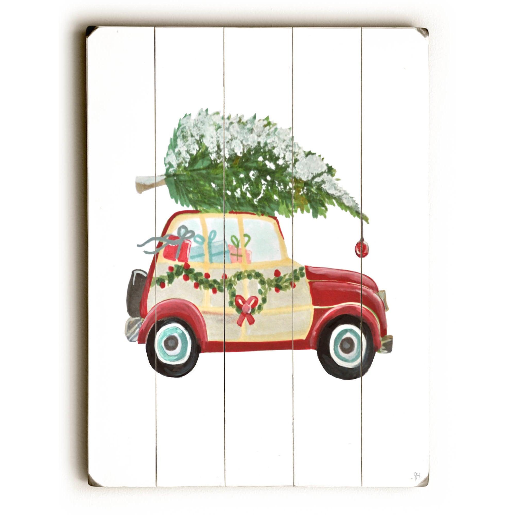 Shop Christmas Tree On Car Wall Decor By Jennifer Rizzo Design