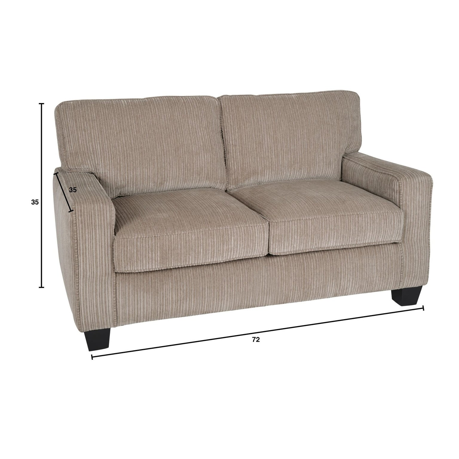 Shop Serta Palisades 73 Inch Sofa Free Shipping Today Overstock