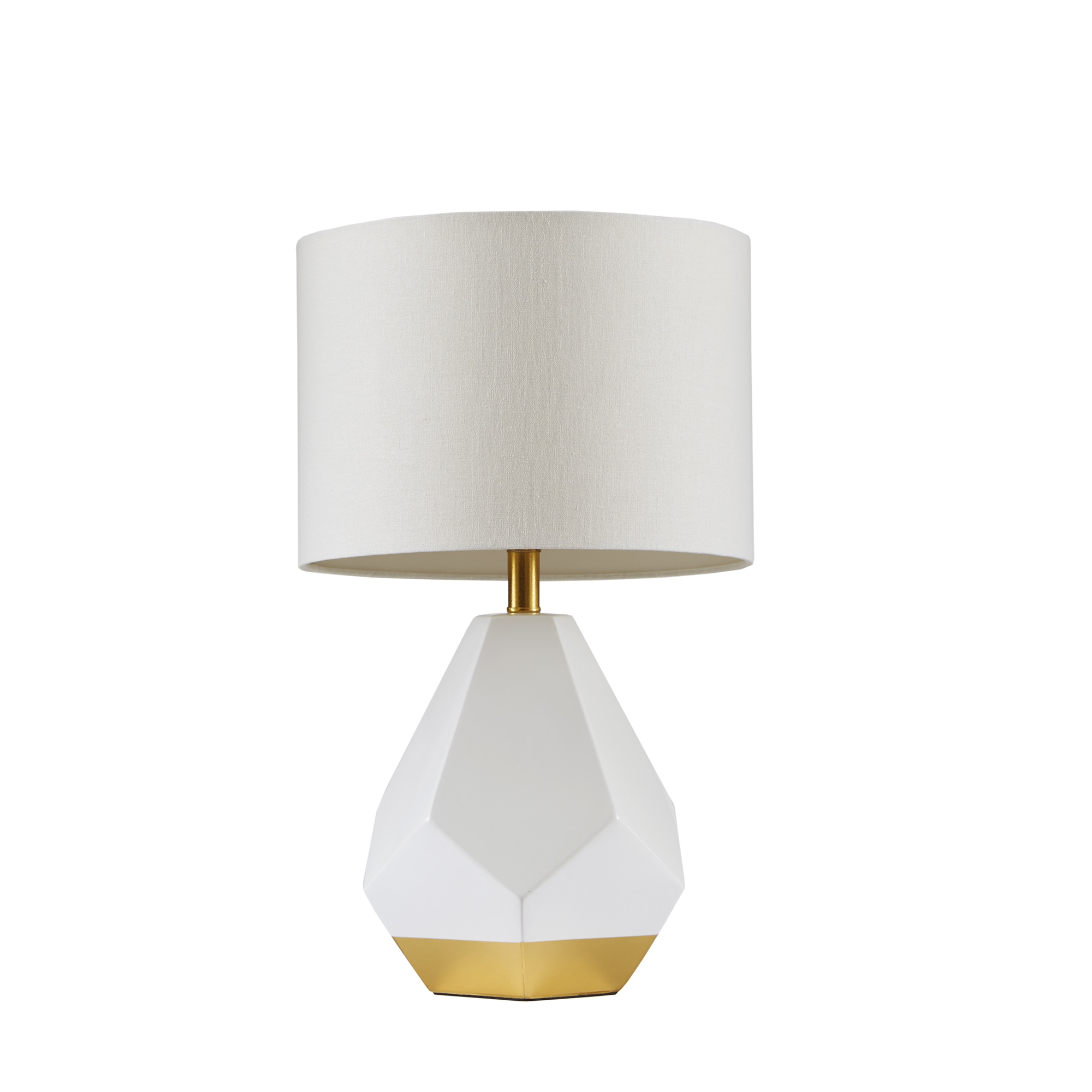 Shop Urban Habitat Facet White/ Gold Table Lamp   On Sale   Free Shipping  Today   Overstock.com   16769513