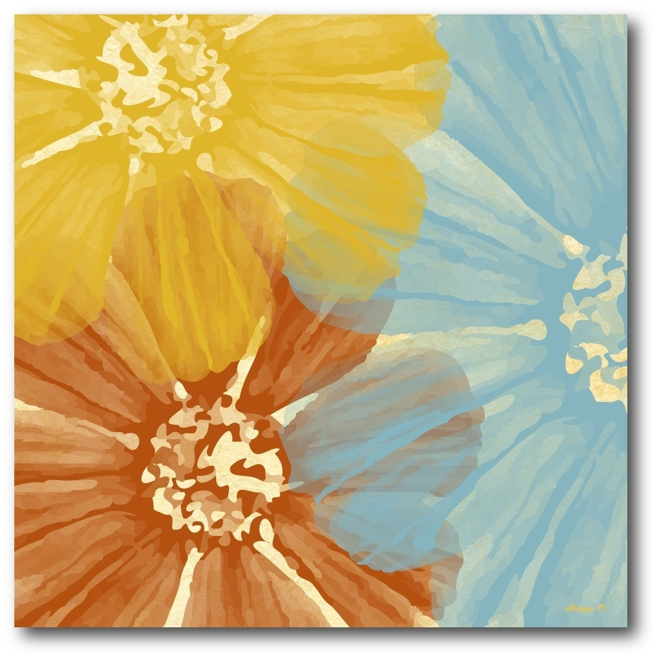 Courtside Market Three Flower Gallery Wrapped Canvas Wall Art ...