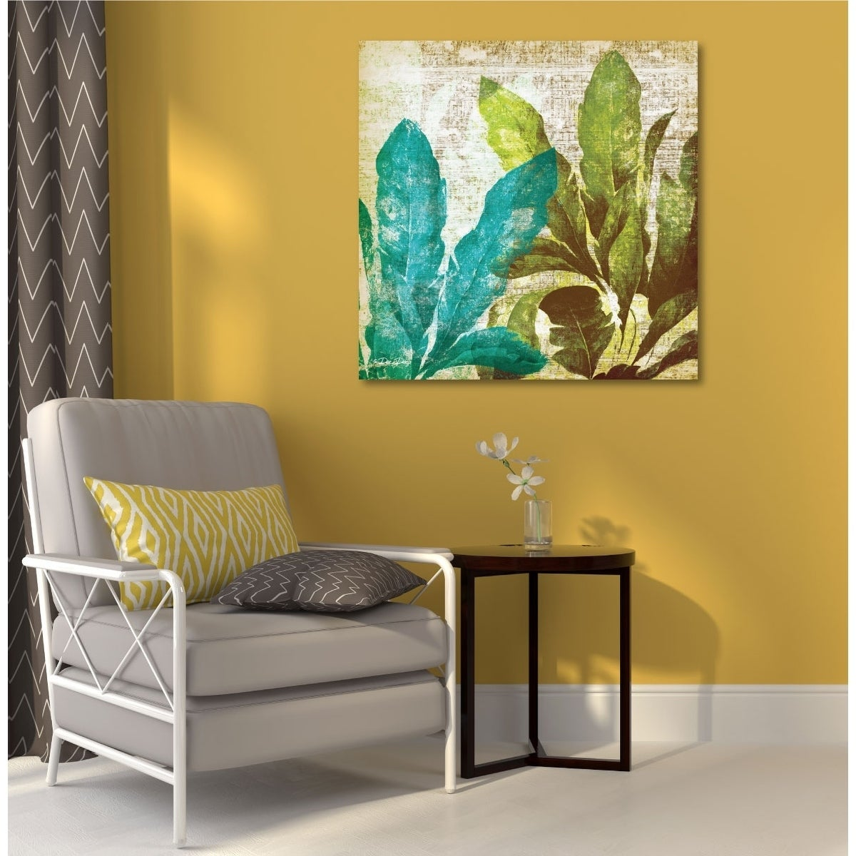 Shop Courtside Market Tropical Leaves Gallery Wrapped Canvas Wall ...