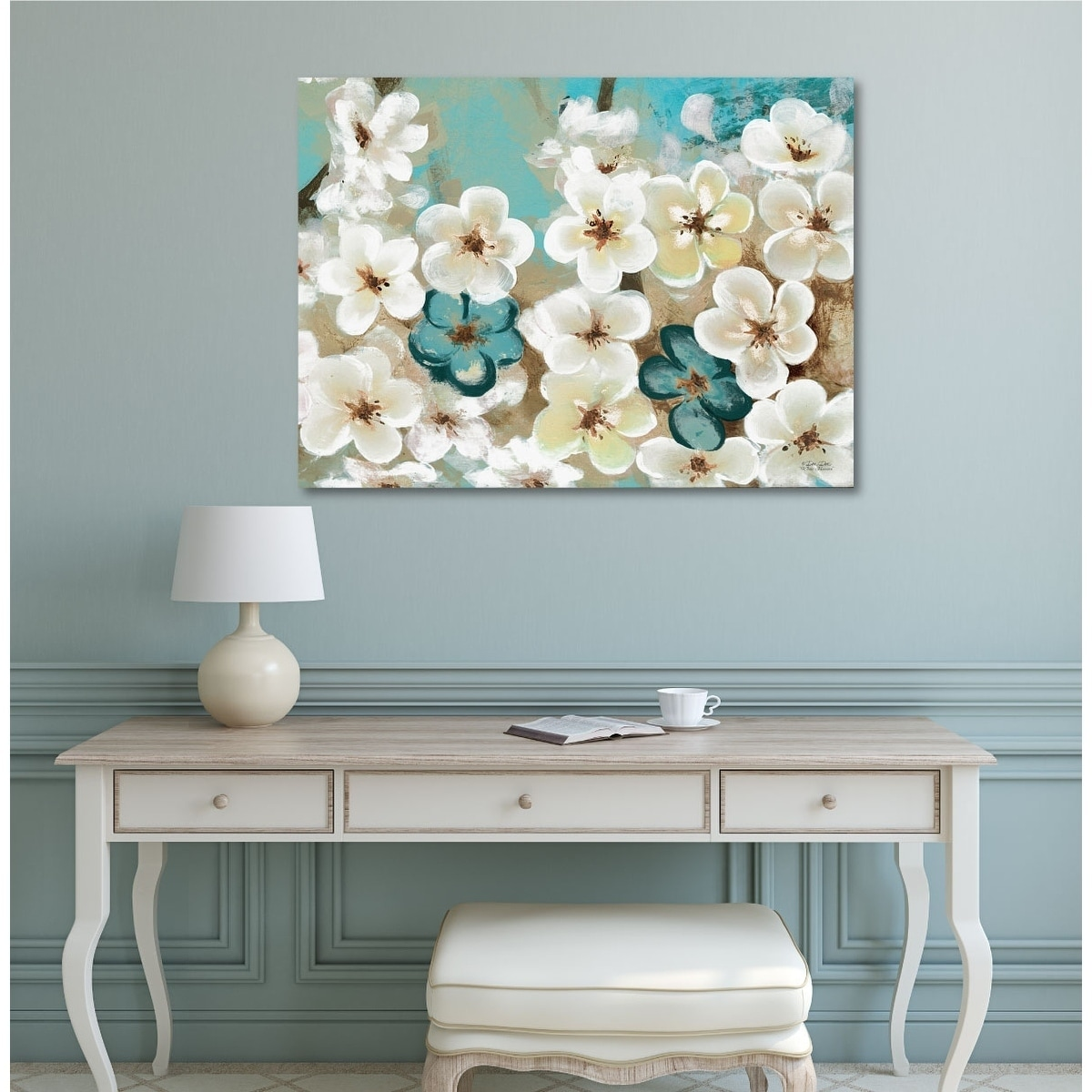 Shop Courtside Market White Flowers Gallery Wrapped Canvas Wall Art