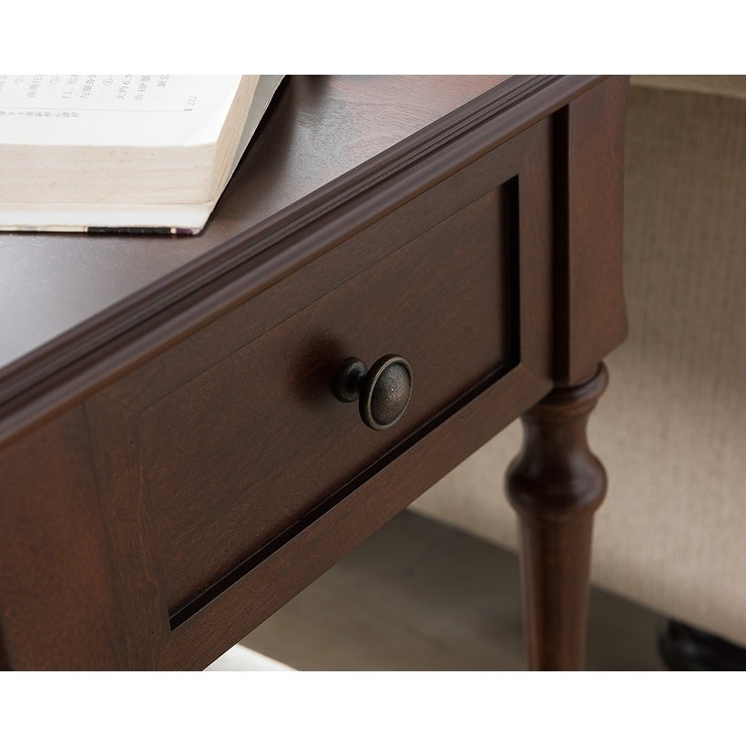 Regency Side Table With Charging Station In Dark Cherry Free Shipping Today 16788562