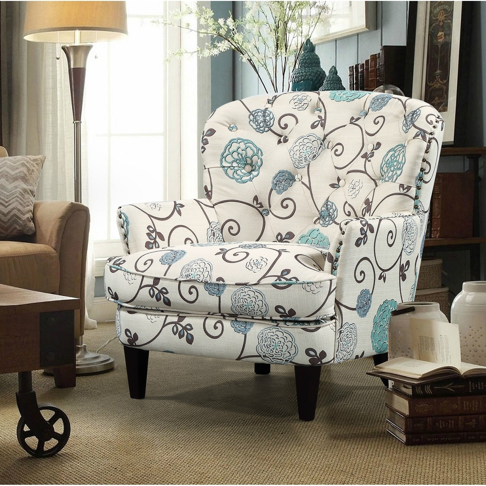 Shop Wenatchee Traditional Wide Back Arm Chair - Free Shipping Today ...