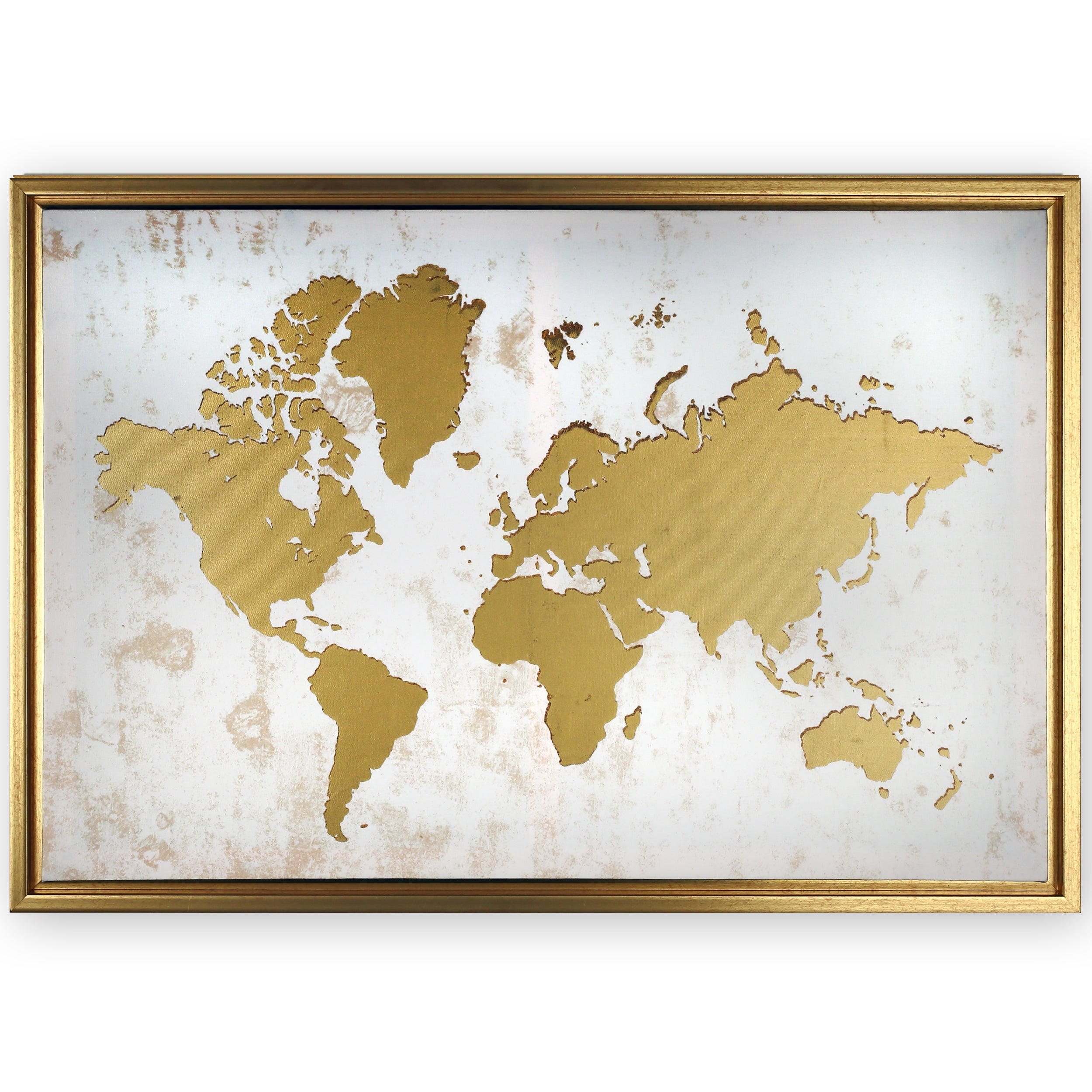 Shop framed white and gold world map on sale free shipping today shop framed white and gold world map on sale free shipping today overstock 16796013 gumiabroncs Gallery