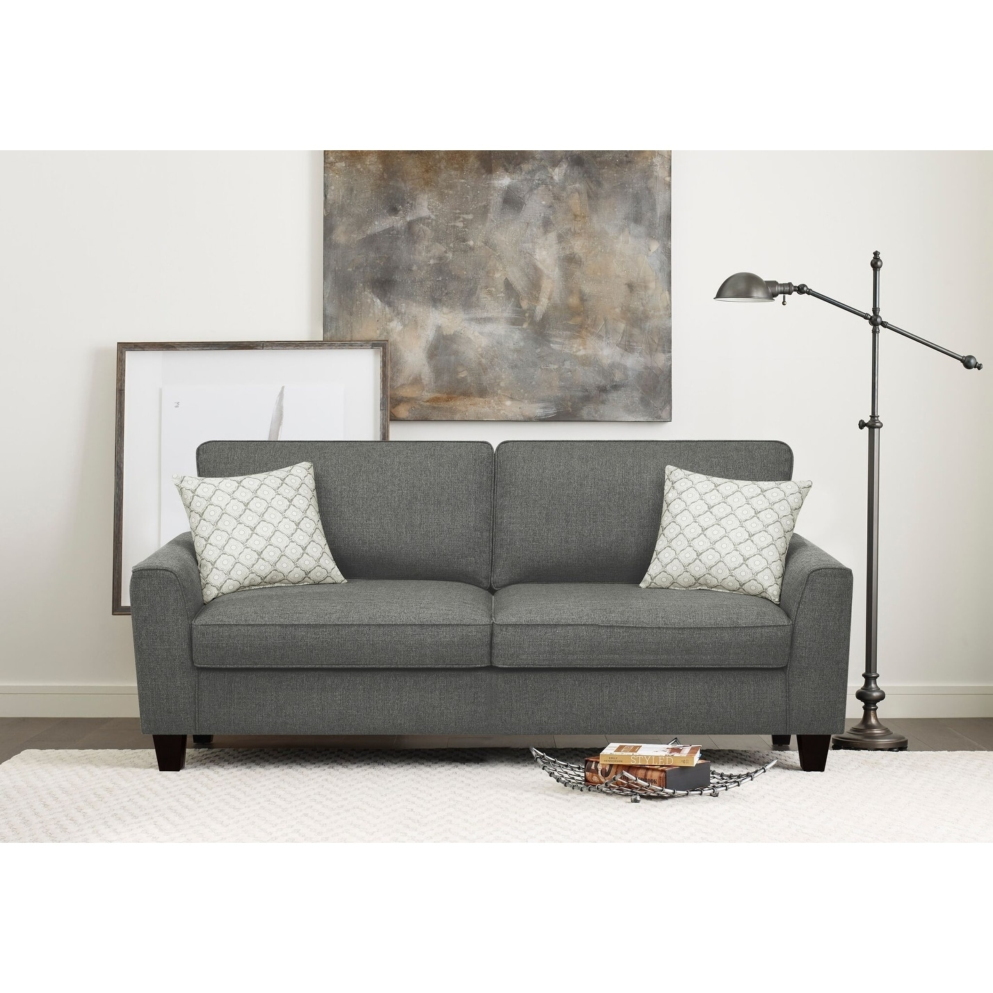 Shop Serta Astoria Deep Seating 78 Inch Sofa Free Shipping Today