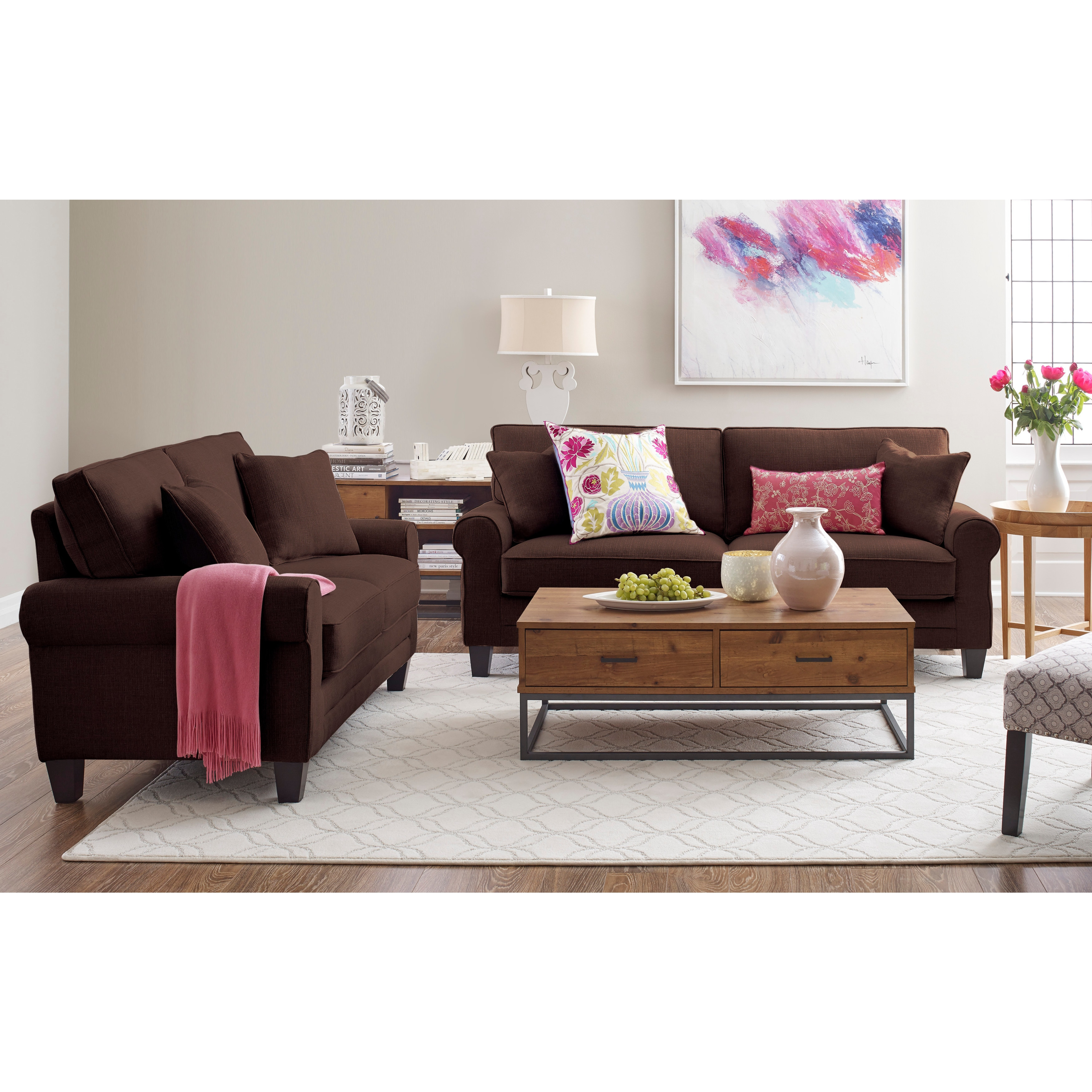 at serta collection home hayneedle couch fabric sofa product palisades cfm chestnutbrown in martinique options