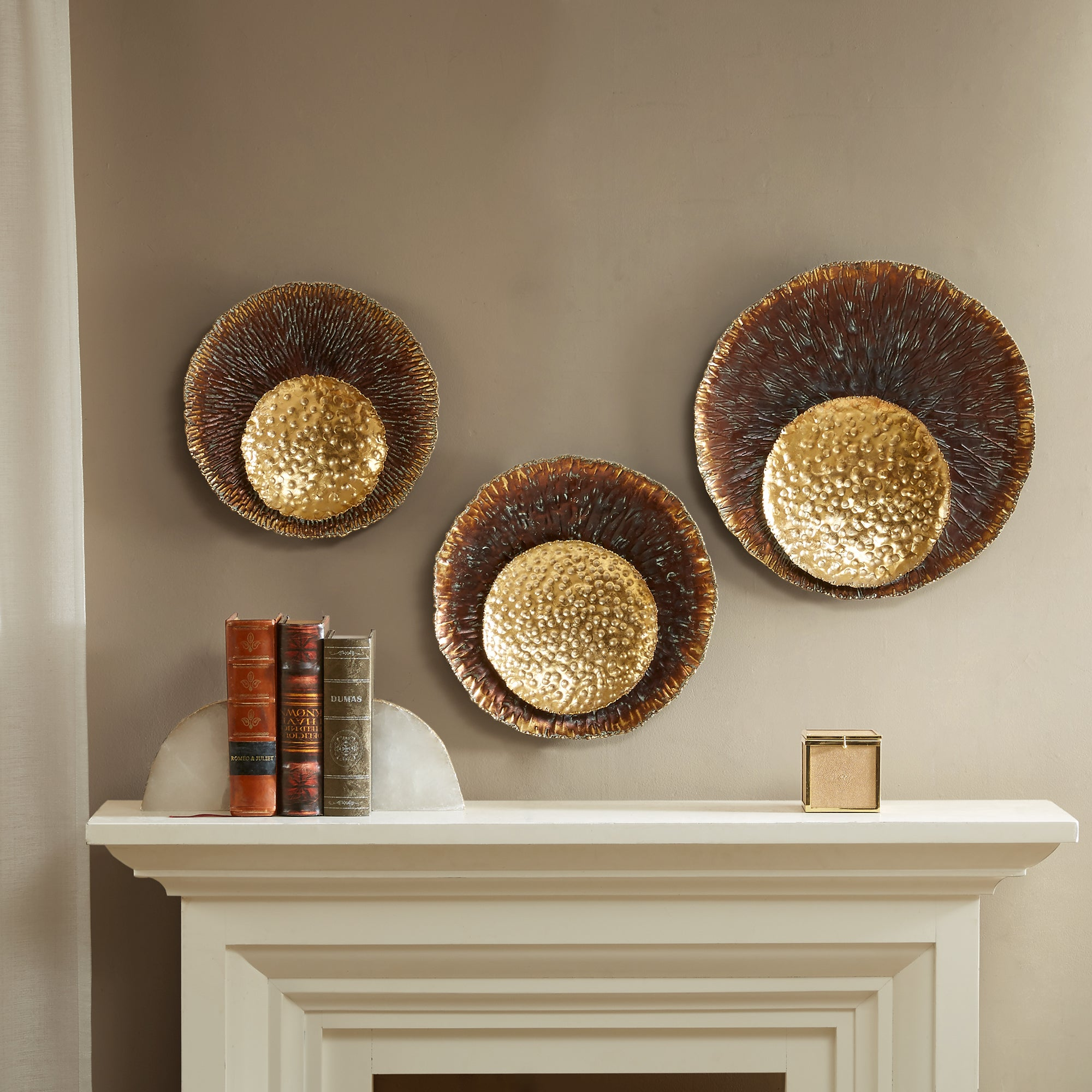 Shop Madison Park Silas Gold Statement Circle Wall Decor Set Of 3