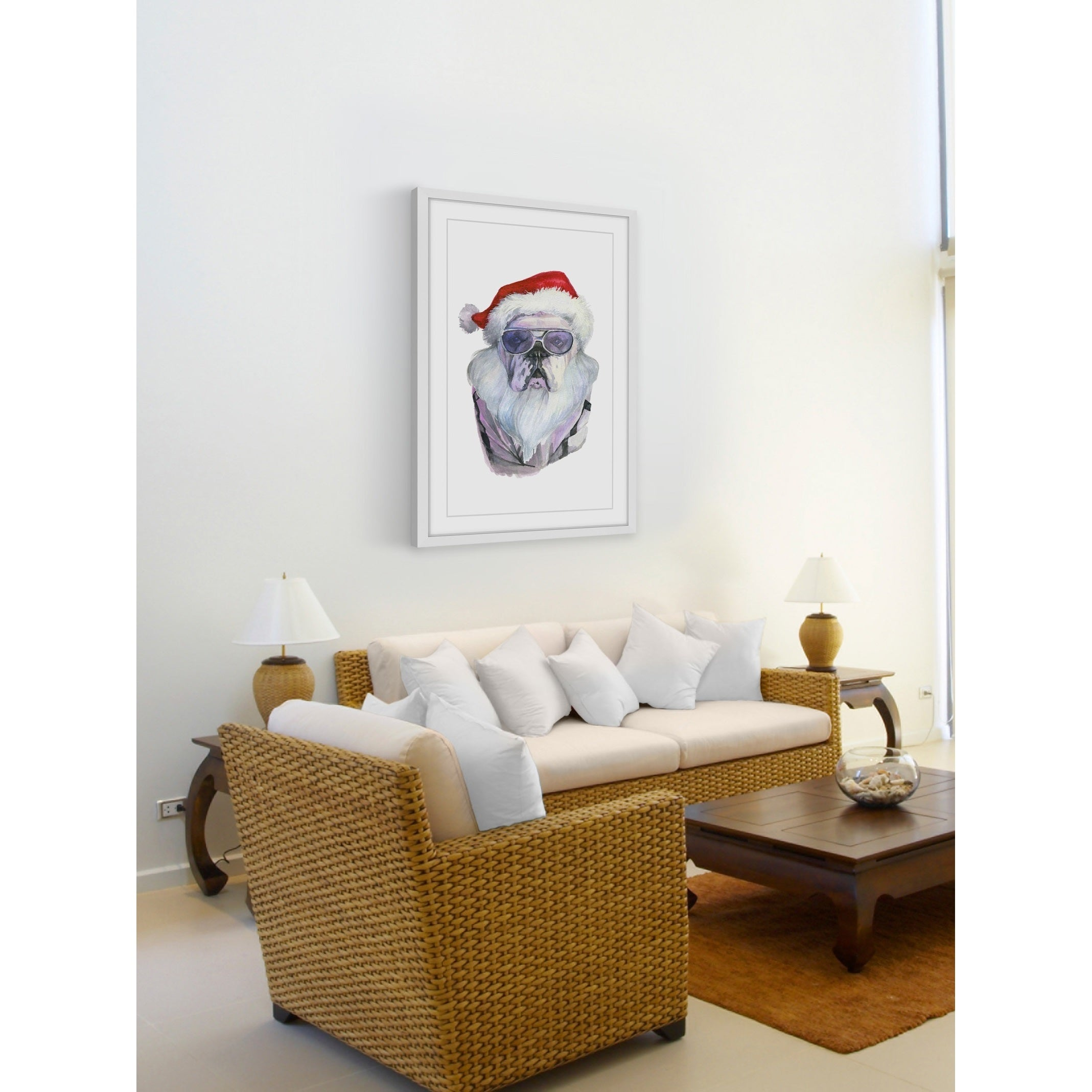 U0027Papa Noelu0027s Comingu0027 Framed Painting Print   Free Shipping Today    Overstock   23101503