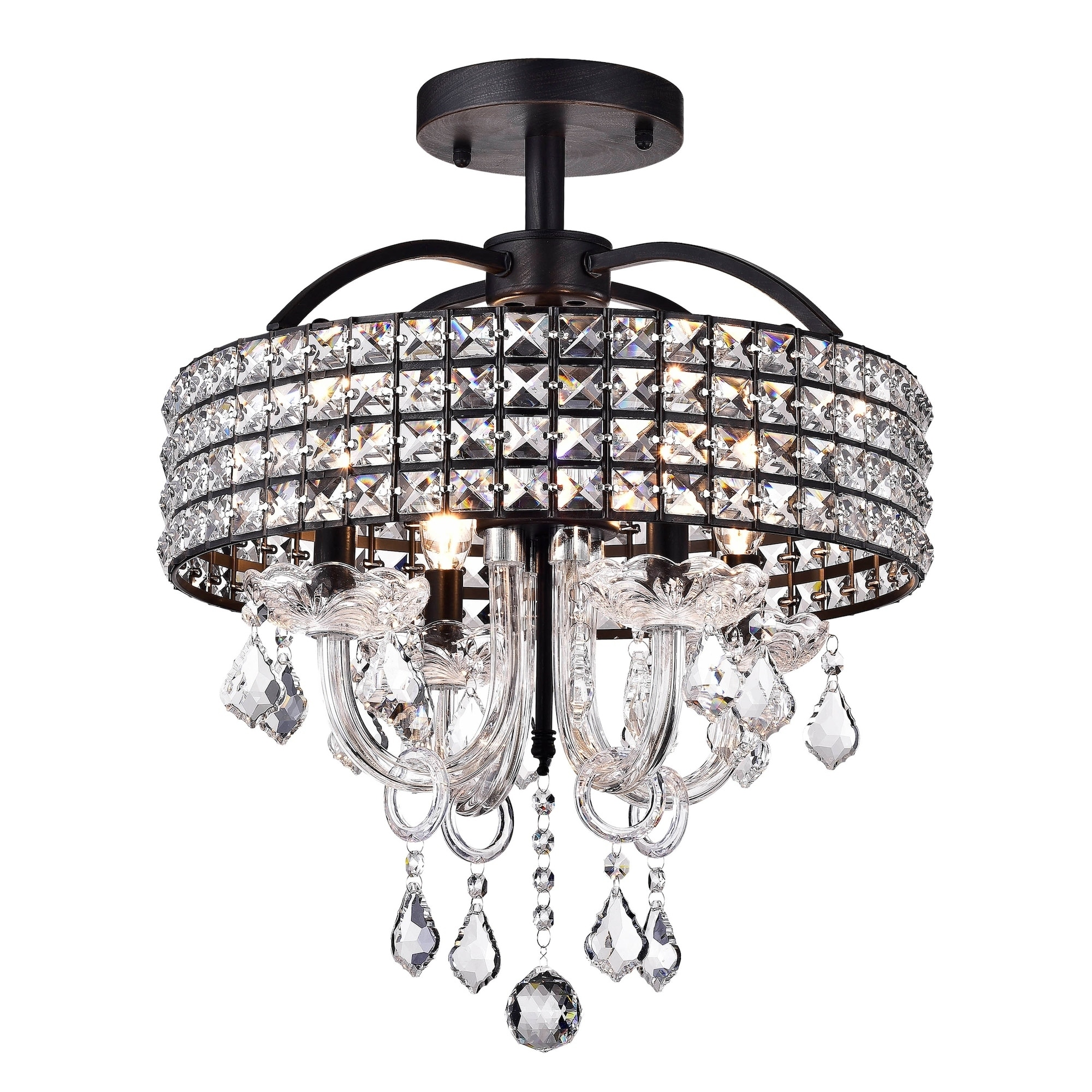 Antares 4 Light Black Semi Flush Mount Free Shipping Today