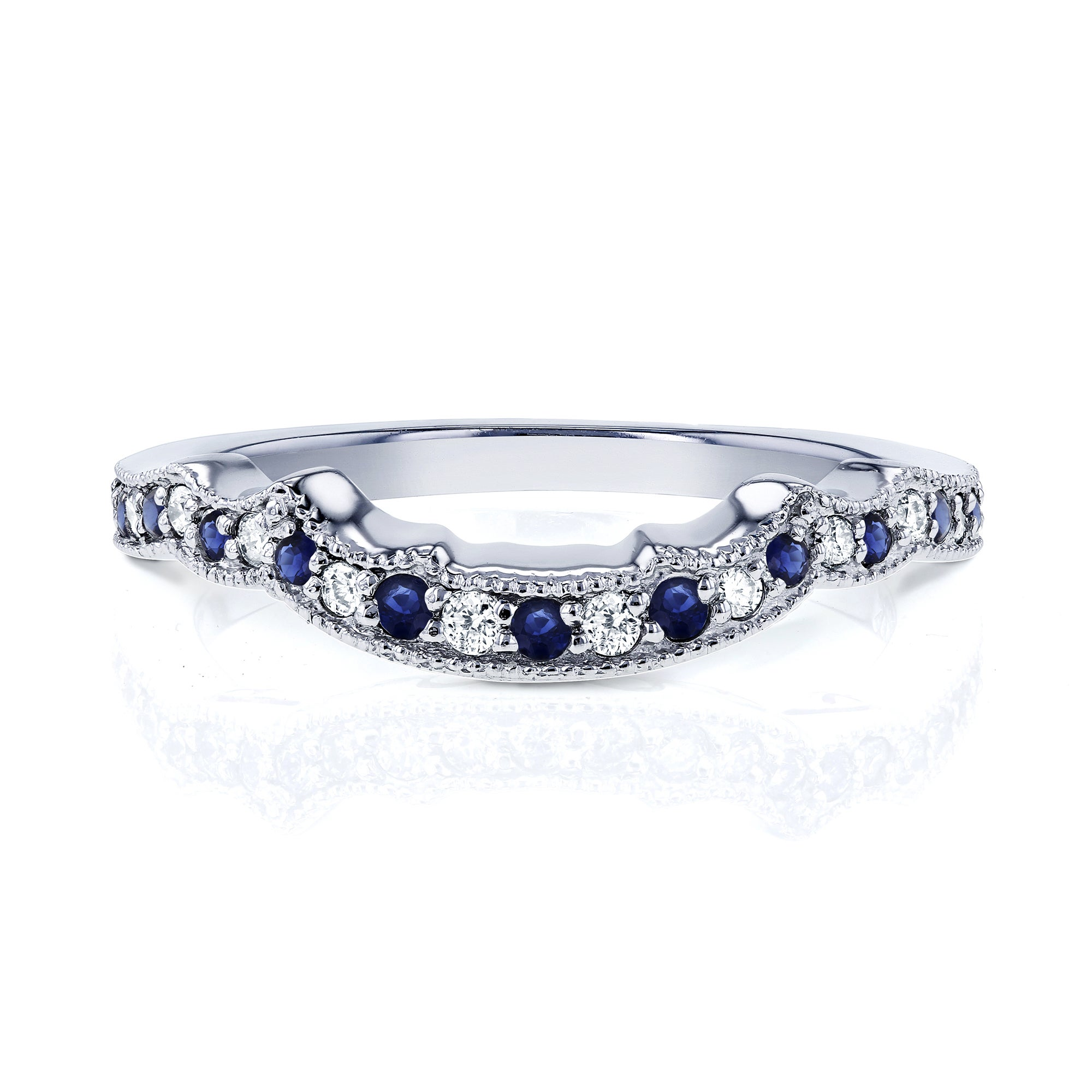 sapphire free ring miadora tdw gold jewelry infinity white overstock h g shipping watches diamond product created and today