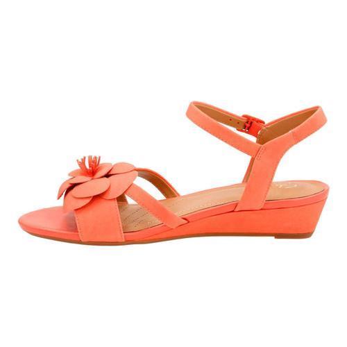 e19a600deab9 ... Thumbnail Women  x27 s Clarks Parram Stella Ankle Strap Sandal Coral  Cow Nubuck