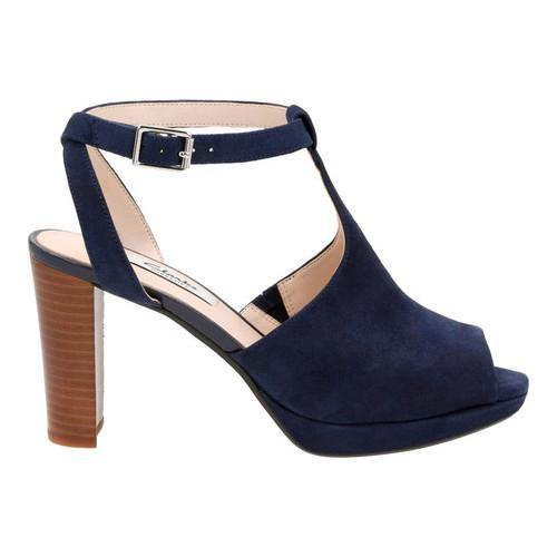 e7b4afc28b7 ... Thumbnail Women  x27 s Clarks Kendra Charm Peep Toe Ankle Strap Sandal  Navy Suede ...