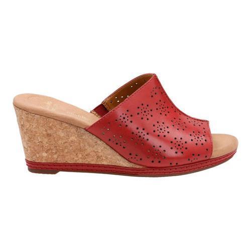 869450fee64 ... Thumbnail Women  x27 s Clarks Helio Corridor Slide Red Cow Full Grain  Leather ...