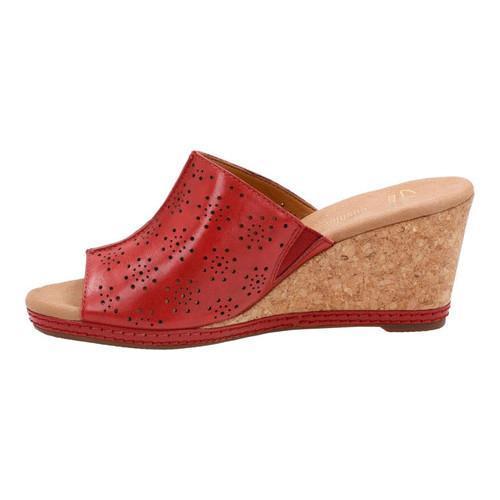 be7624c929f ... Thumbnail Women  x27 s Clarks Helio Corridor Slide Red Cow Full Grain  Leather