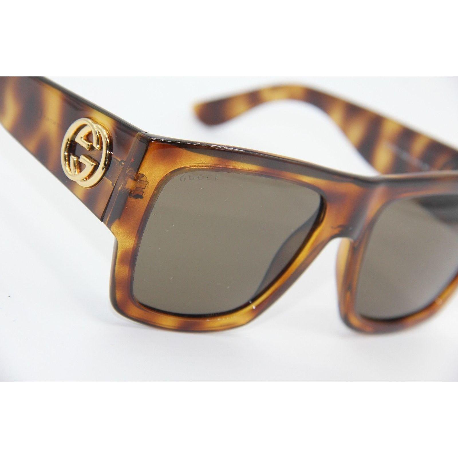 7b6287887f4 Shop Gucci GG 3817 S Light Havana Frame Black Lens Sunglasses - Free  Shipping Today - Overstock - 16803958