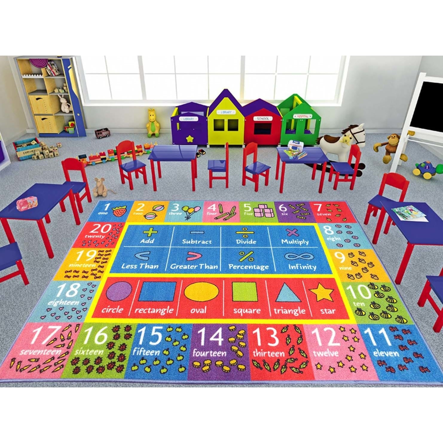 Shop Kc Cubs Math Symbols Numbers And Shapes Multicolor