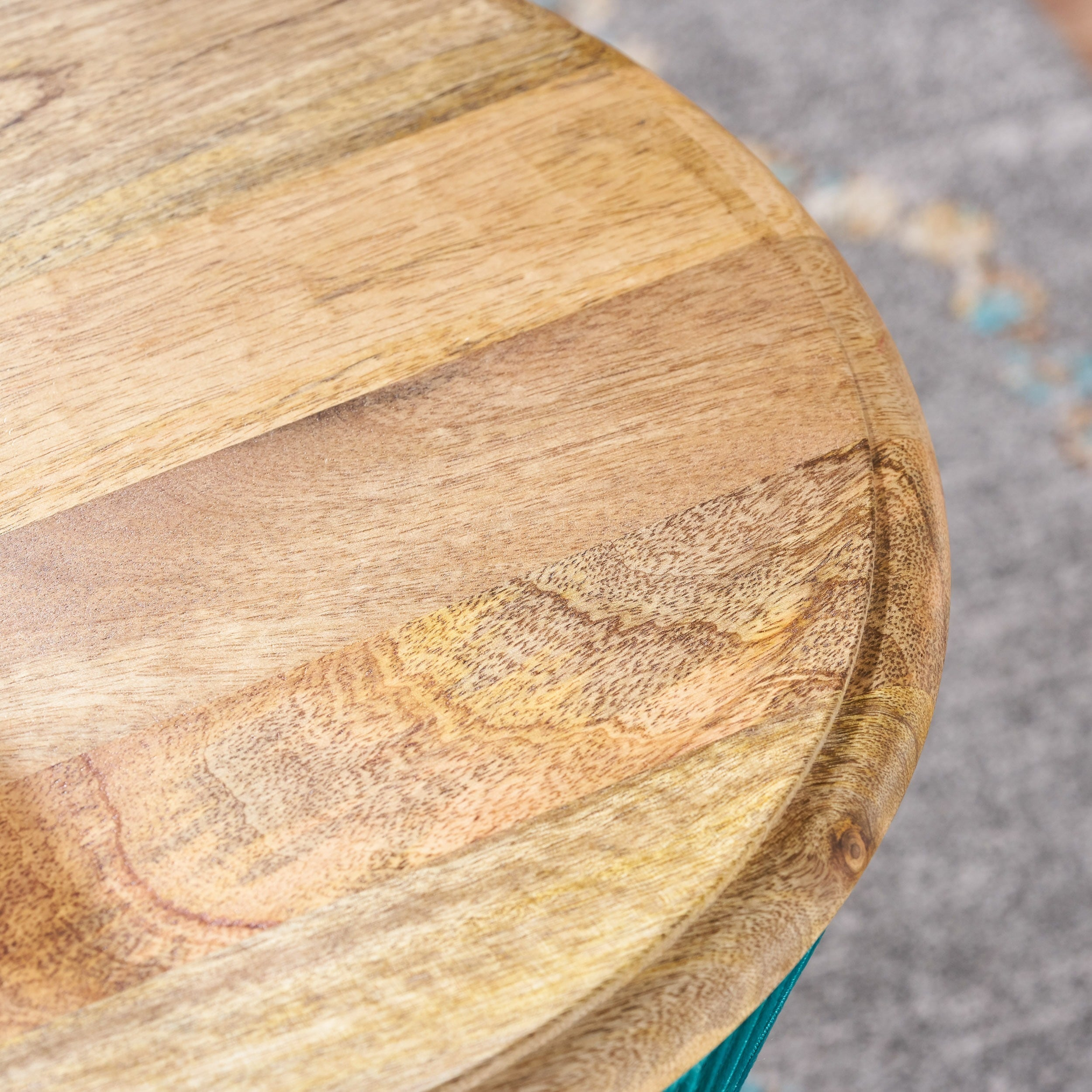 Shop Basel Mango Wood Round End Table by Christopher Knight Home ...