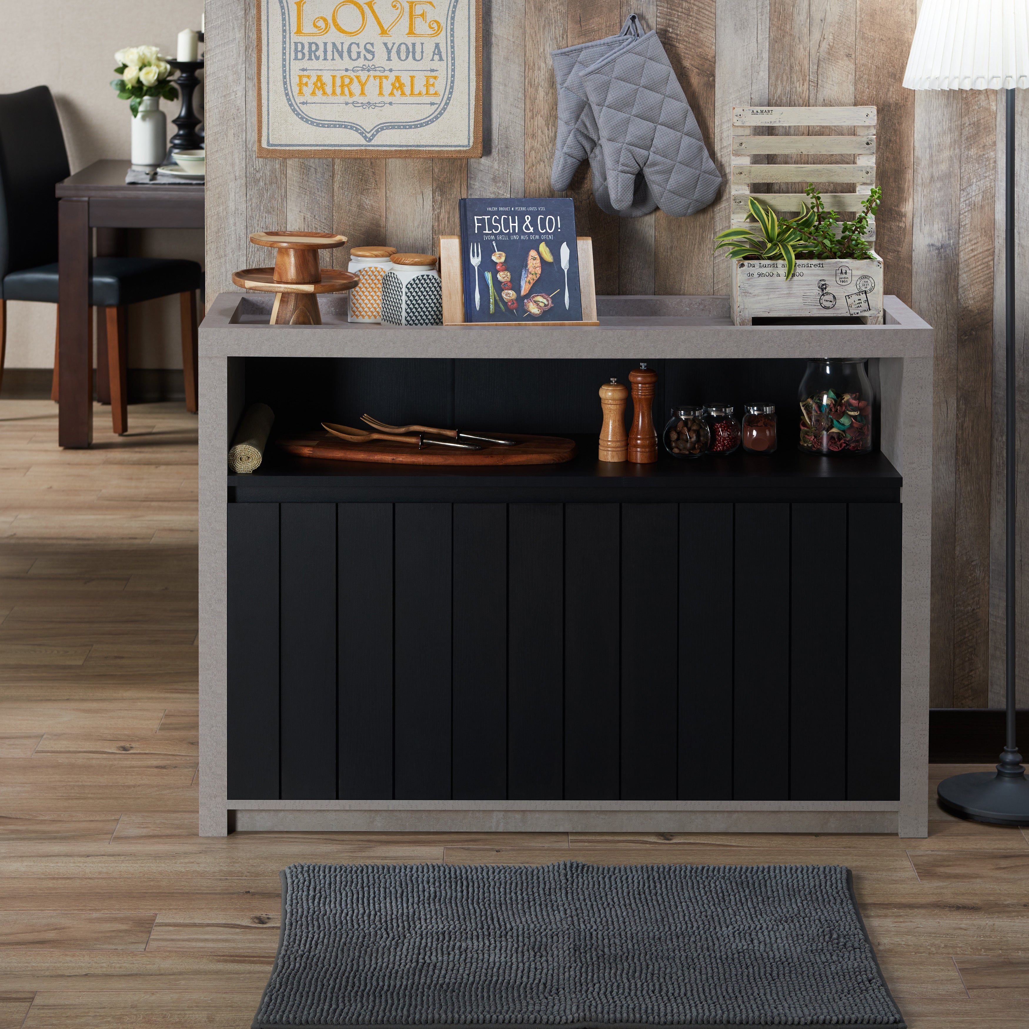 Furniture Of America Lamont Industrial Cement Like Multi Storage Dining  Buffet   Free Shipping Today   Overstock.com   23111979