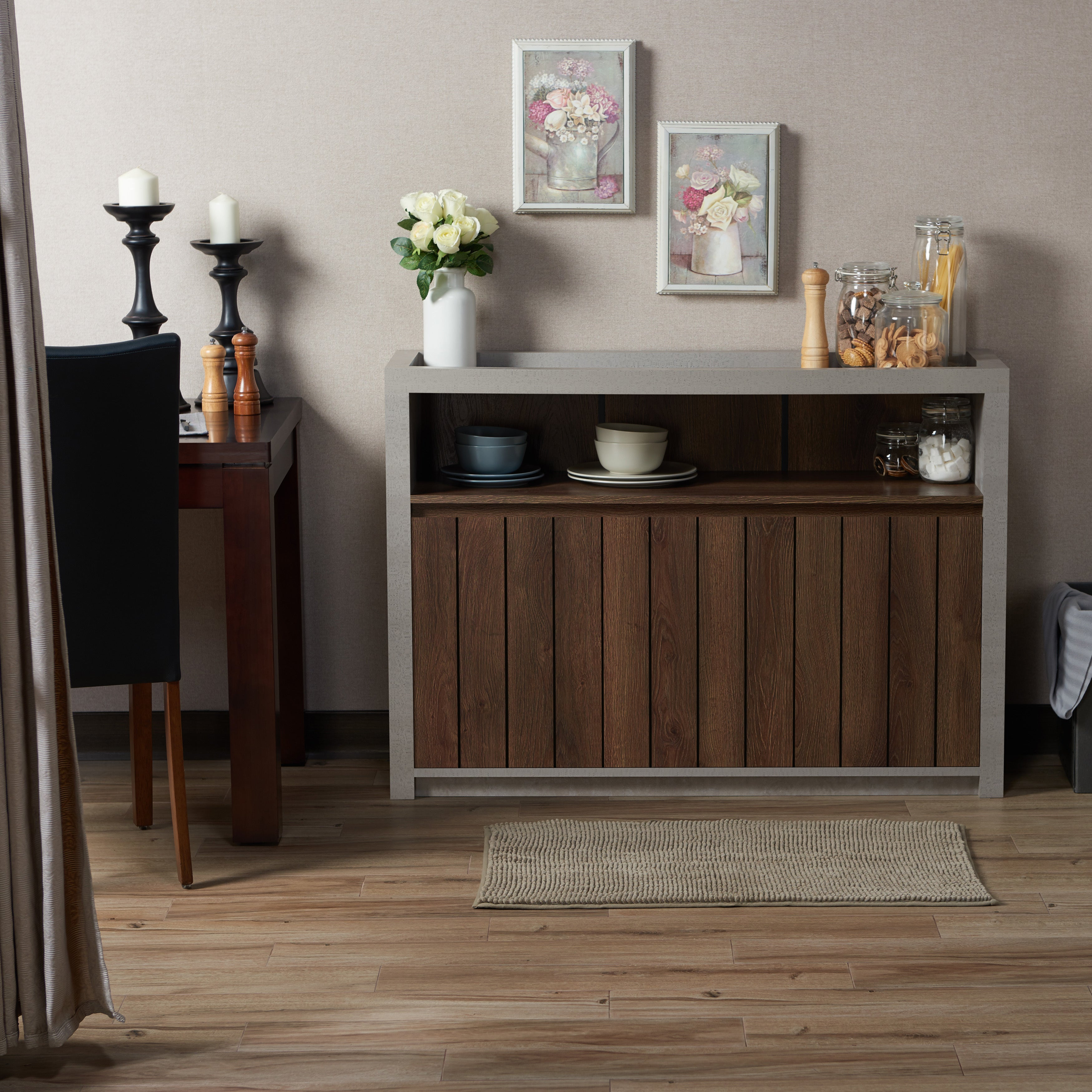Furniture Of America Lamont Industrial Cement Like Multi Storage Dining  Buffet   Free Shipping Today   Overstock   23111979