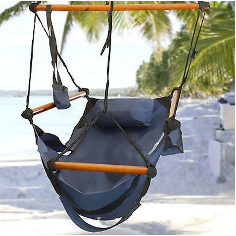 Discontinue Deluxe Outdoor Patio Zero Gravity Air Hammock Sky Swing Rope Chair Free Shipping On Orders Over 45 16808325