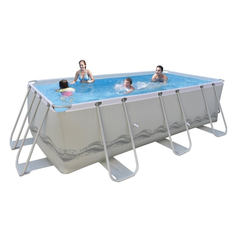 rectangle above ground swimming pool. 13\u0027 X 6.5\u0027 Gray Rectangular Steel Frame Above Ground Swimming Pool Set - Free Shipping Today Overstock 23118464 Rectangle A