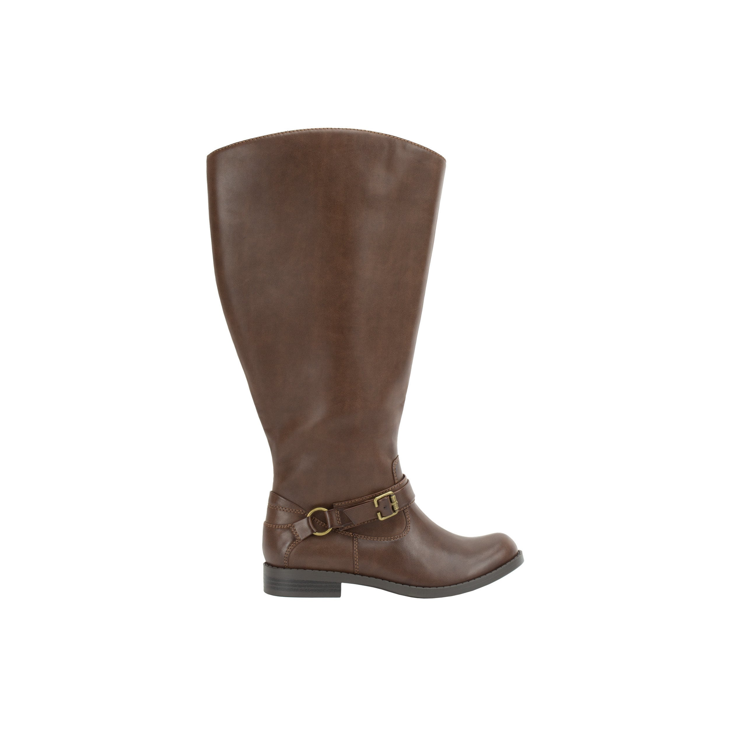 c161d7306 Shop Easy Street Women's Quinn Plus Plus Extra Wide Calf Boot (Brown  Burnished) - Ships To Canada - Overstock - 16817392
