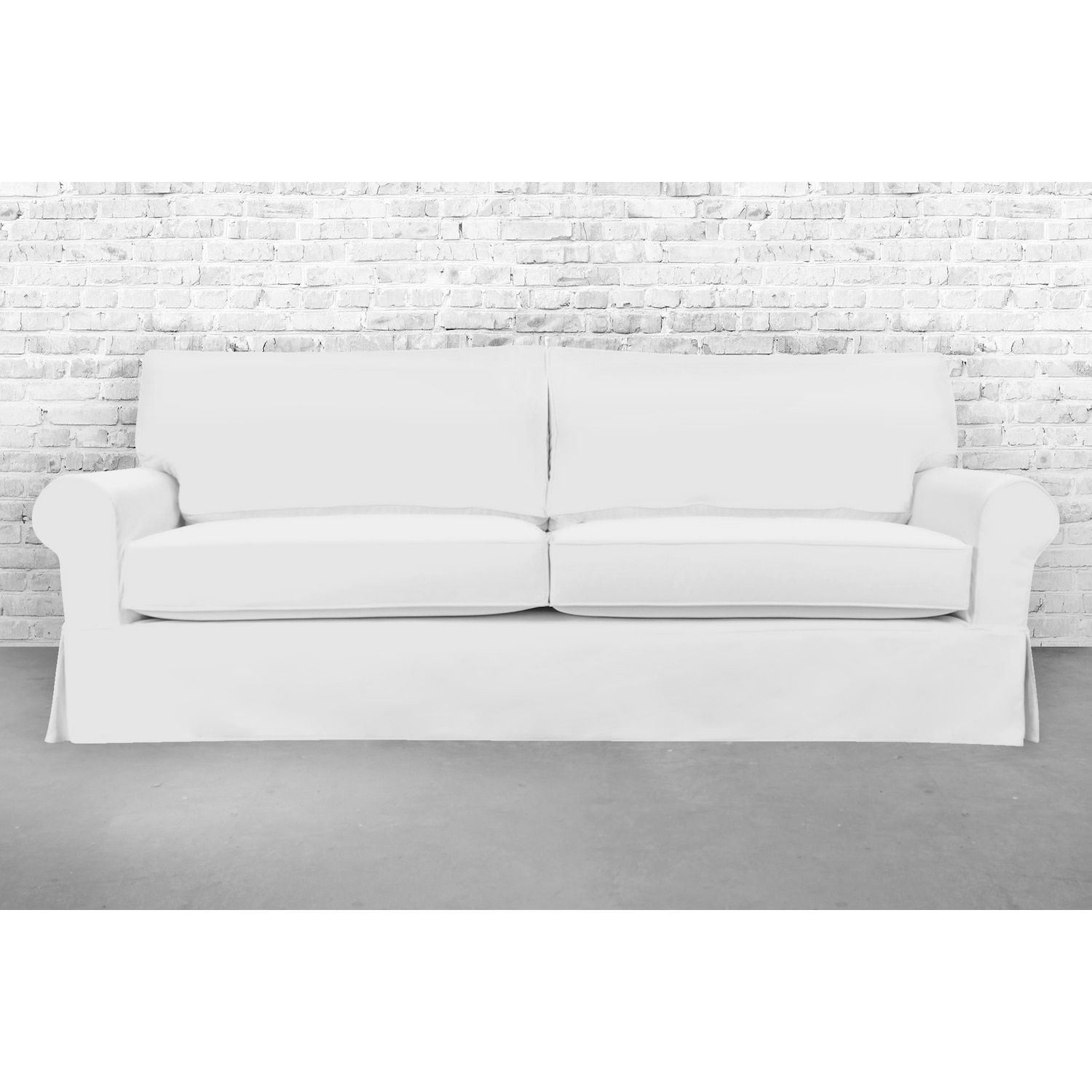 Stain Resistant 5 Piece White Sandy Sofa Slipcover Free Shipping