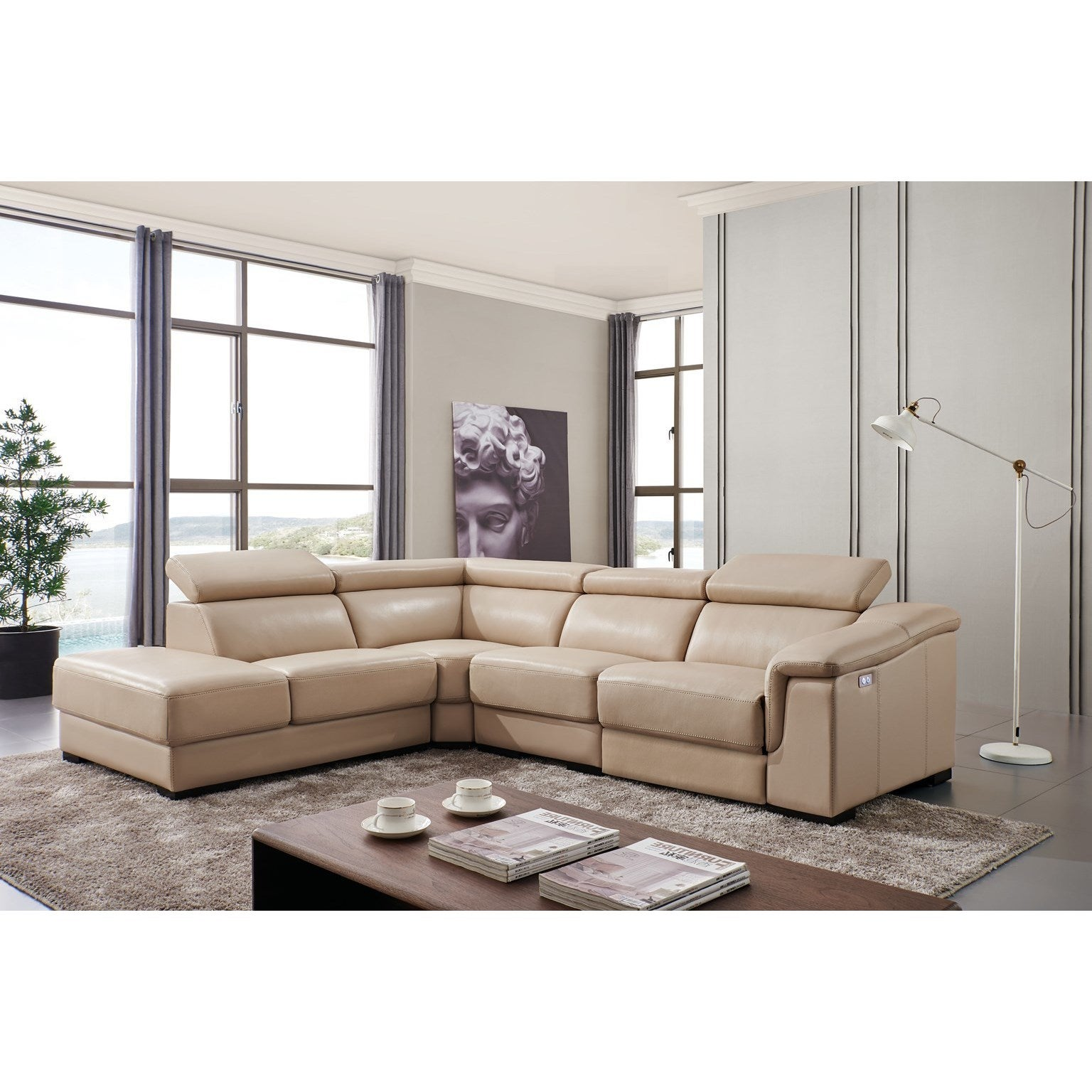 Luca Home Aaron Power Reclining Sectional - Free Shipping Today ...