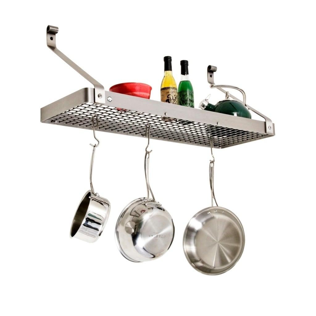unique pot racks premier steel hammered enclume amazon utensil inch rack bar wall bookshelf hanging chrome best of