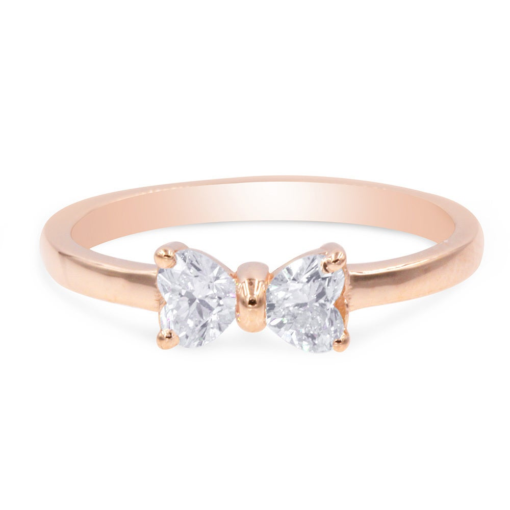 women crystal crystals top on engagement price bow gold ring for color austrian jewelry cz from plated accessories rings shape item in wedding quality wholesale rose