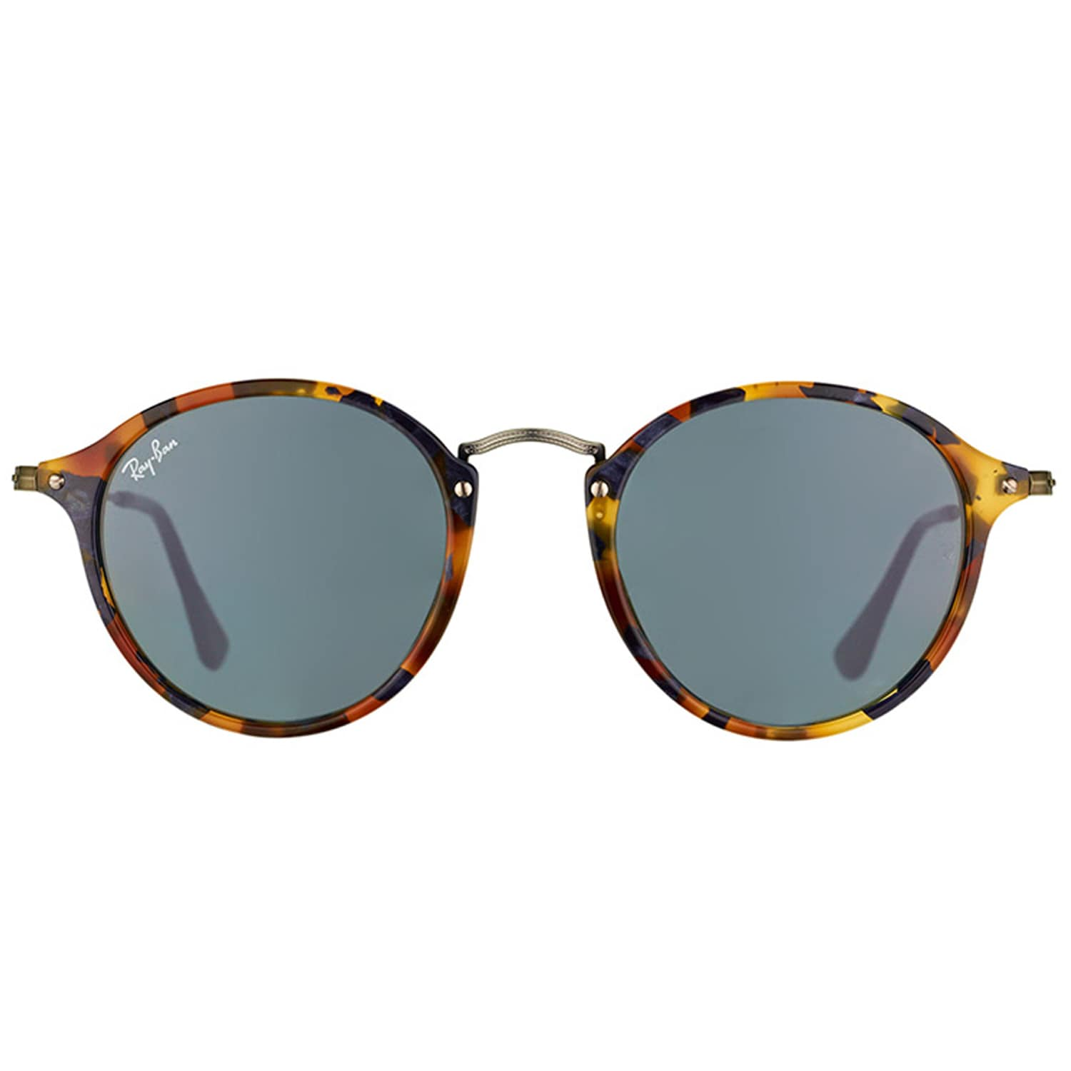 d40b987ee2 ... buy shop ray ban round rb 2447 1158r5 unisex spotted blue havana frame  blue lens 52