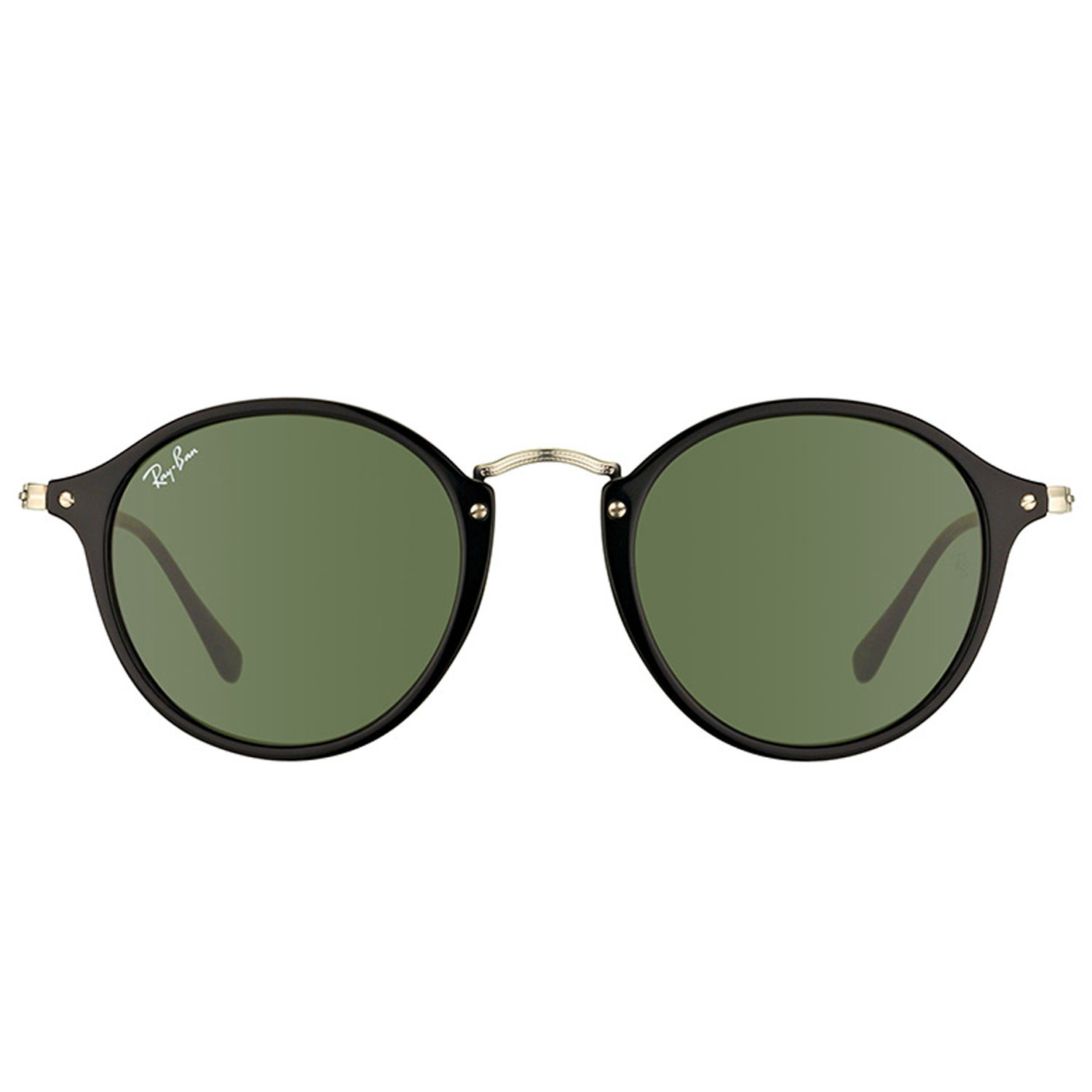 866aacbb28bd Shop Ray-Ban Unisex RB 2447 901 Black Frame and Green Lens 49mm Round  Sunglasses - On Sale - Free Shipping Today - Overstock - 16824173