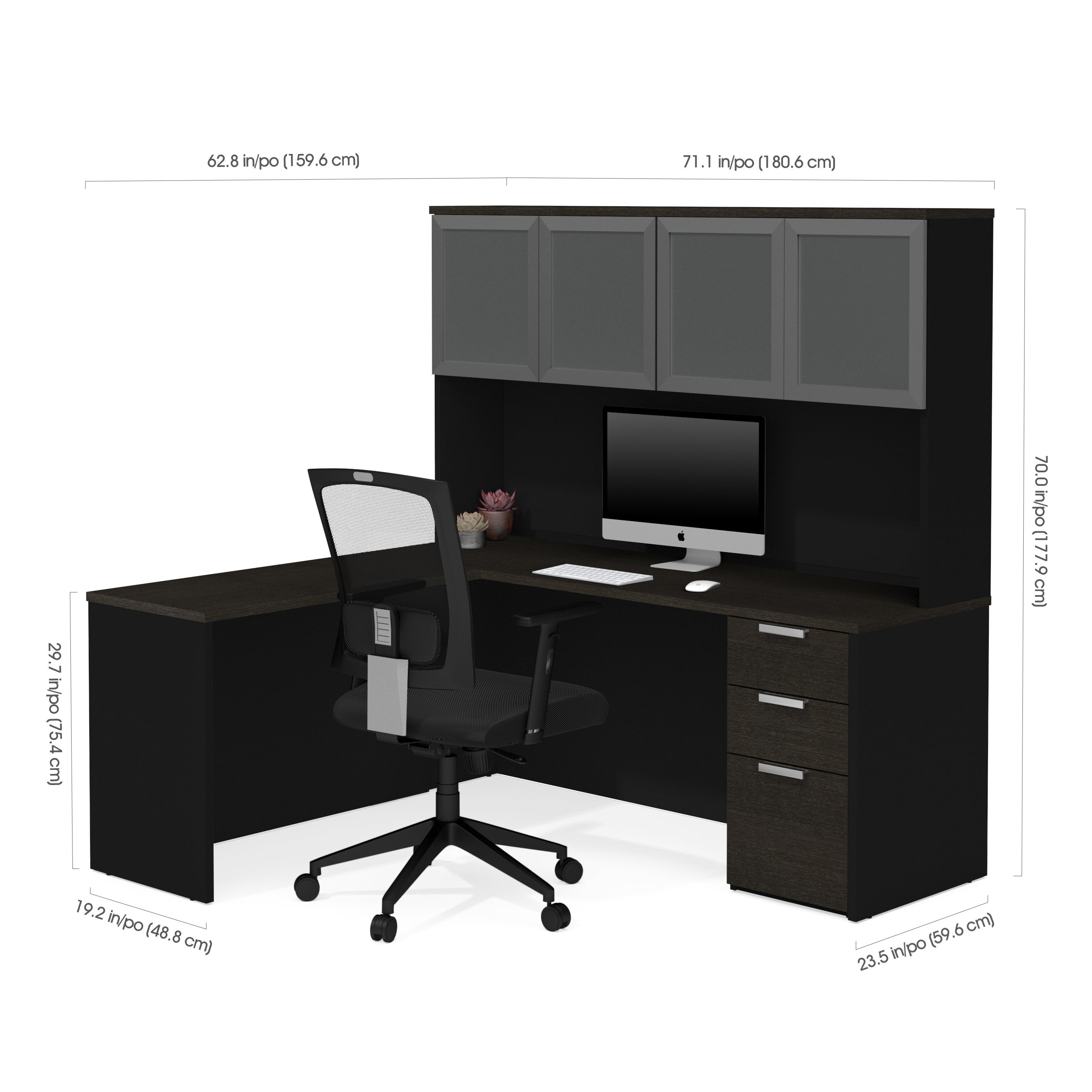 curved products drawer hutch by corner desk shape shaped furniture l and with pedestal half desks