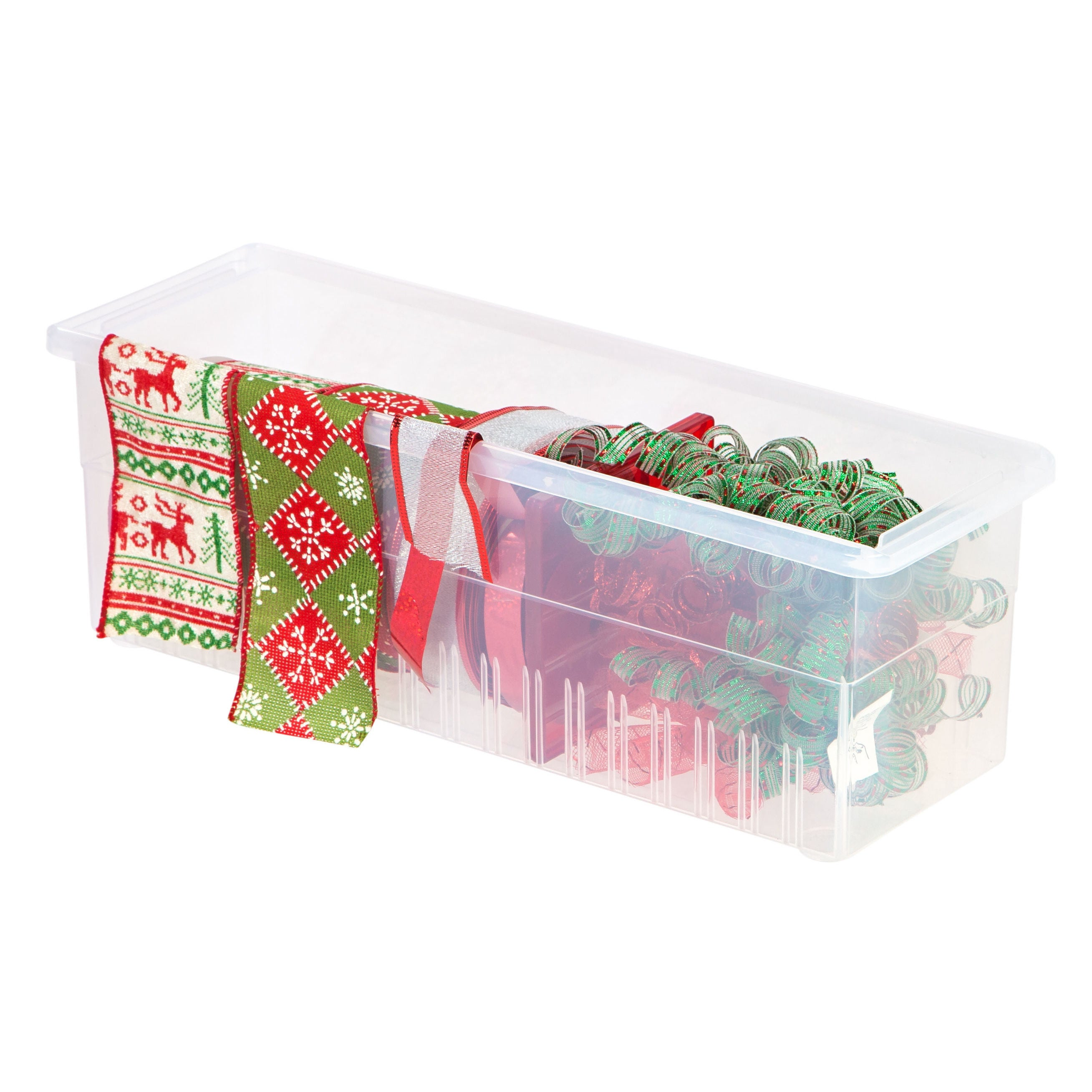 Shop IRIS Ribbon Storage Box, Red - Free Shipping On Orders Over $45 ...