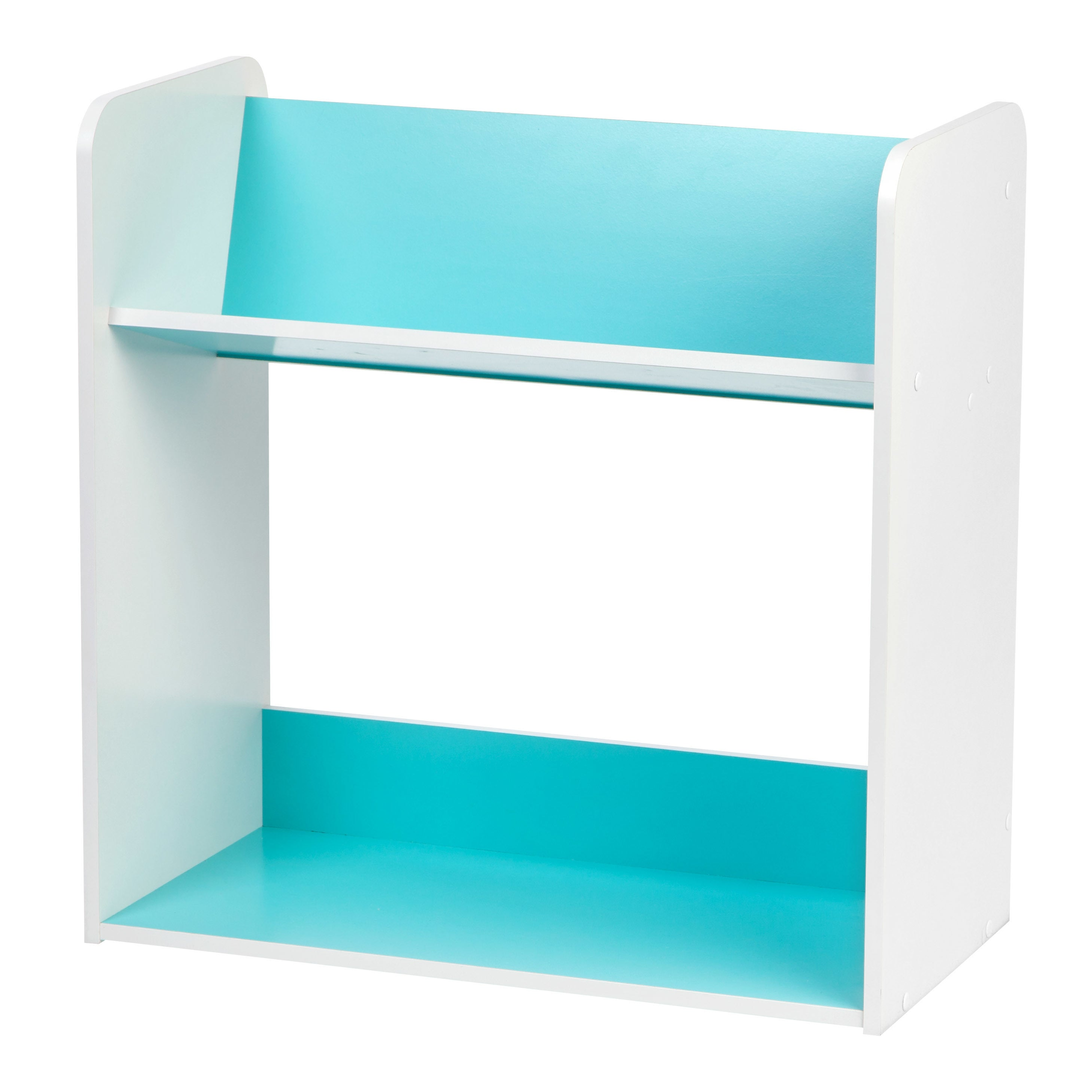 Shop IRIS 2-tier Blue and White Tilted Shelf Book Rack - Free ...