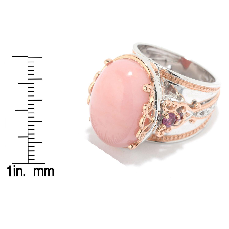 Shop Michael Valitutti Palladium Silver Ica Peru Pink Opal ...