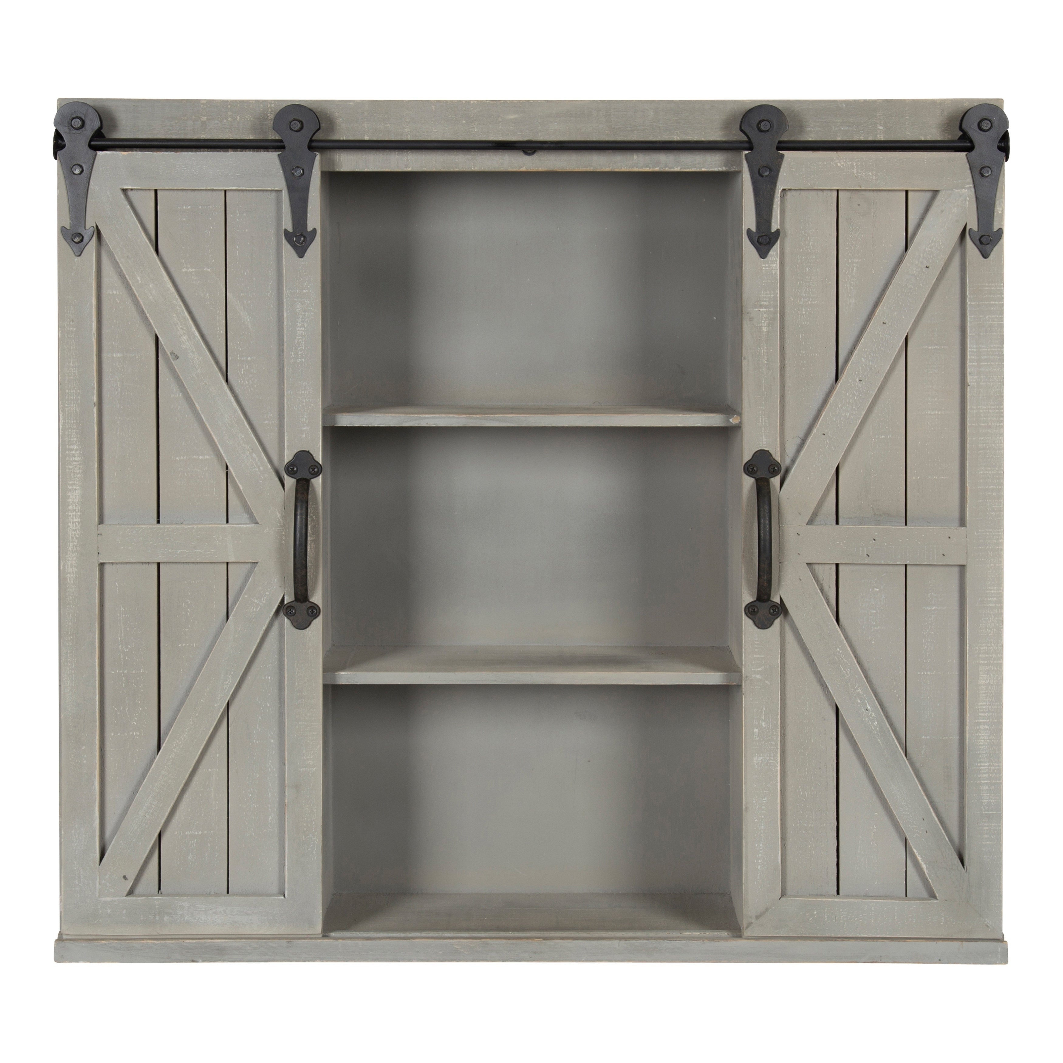 81260f8d0a55 Shop Kate and Laurel Cates Rustic Wood Wall Storage Cabinet with Barn Doors  - On Sale - Free Shipping Today - Overstock - 16838745