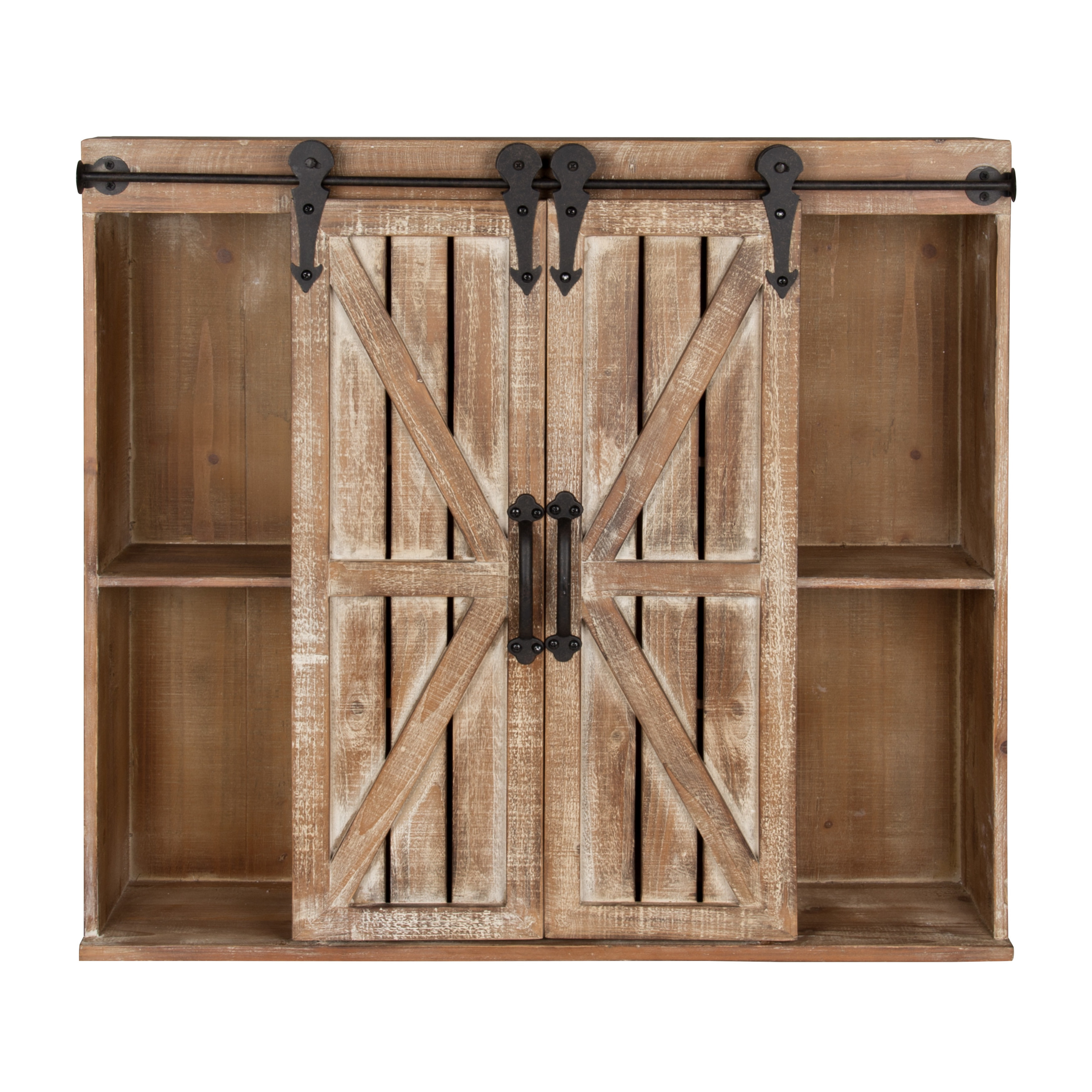 Shop Kate And Laurel Cates Rustic Wood Wall Storage Cabinet With