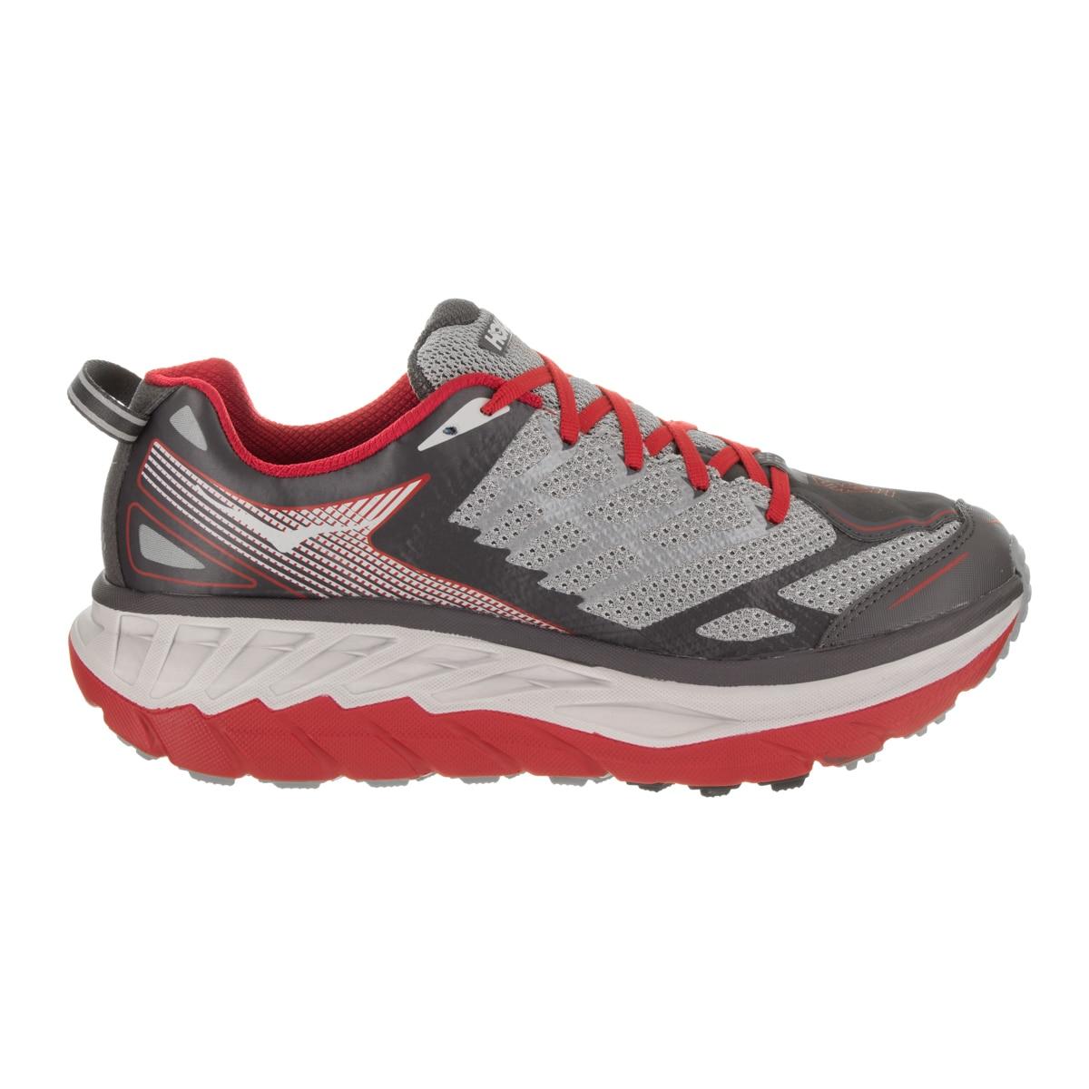 5b50977eae60 Shop Hoka One One Men s Stinson ATR 4 Red Grey Running Shoe - Free Shipping  Today - Overstock.com - 16839234