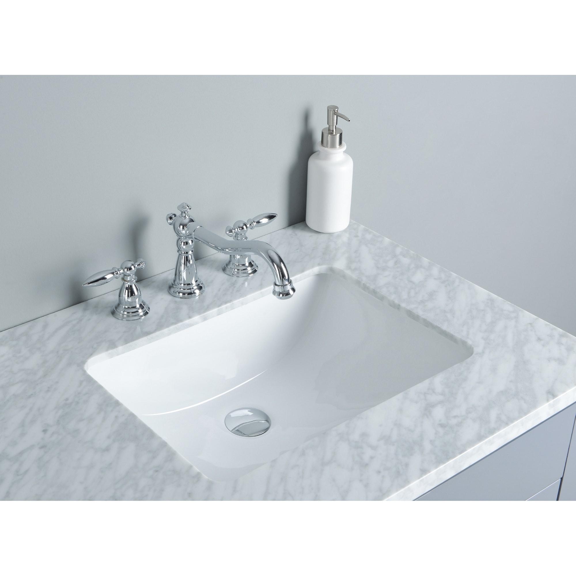 Shop Stufurhome Rochester 60 Inch Grey Double Sink Bathroom Vanity ...