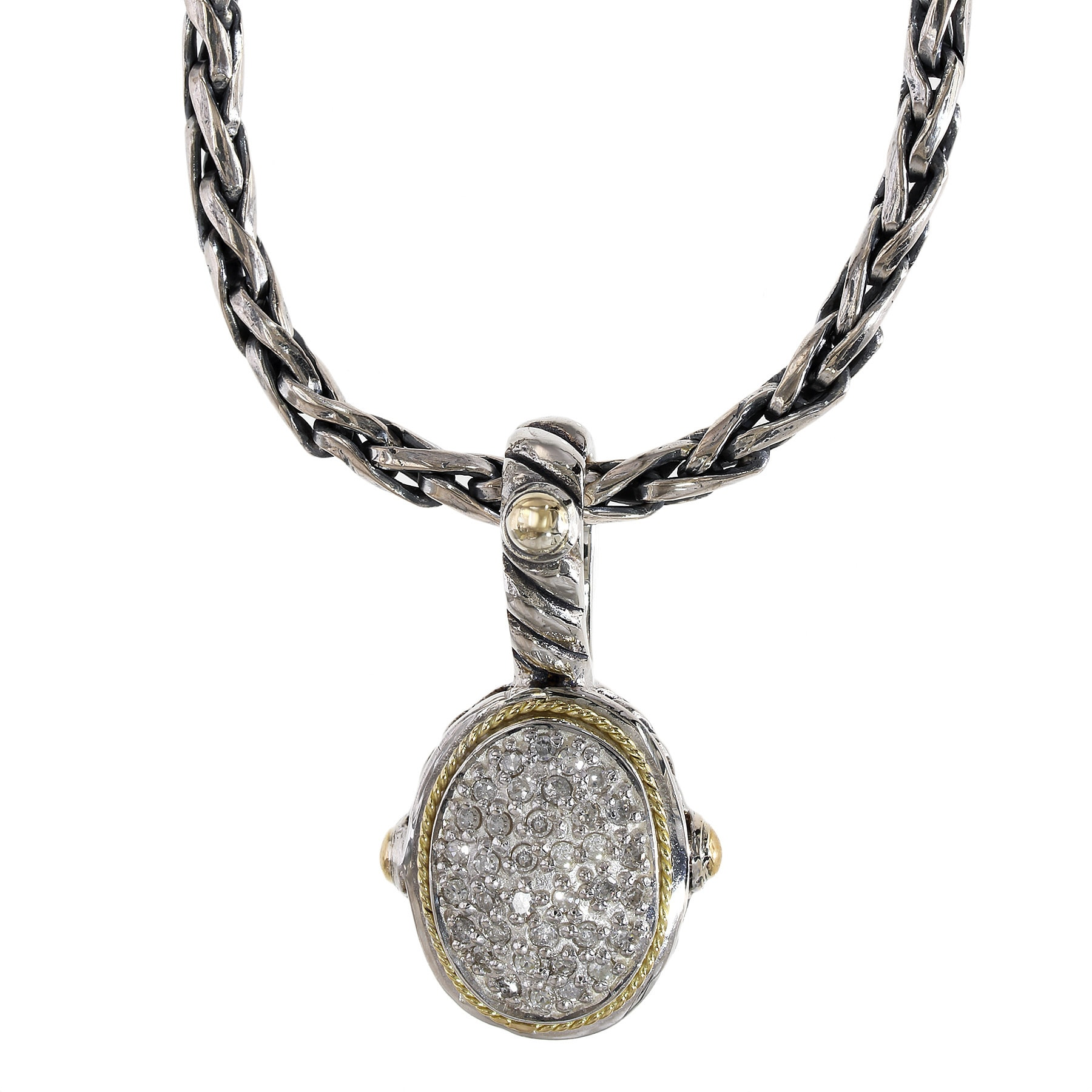 black diamond pendant effy gold jewelry tcw and white