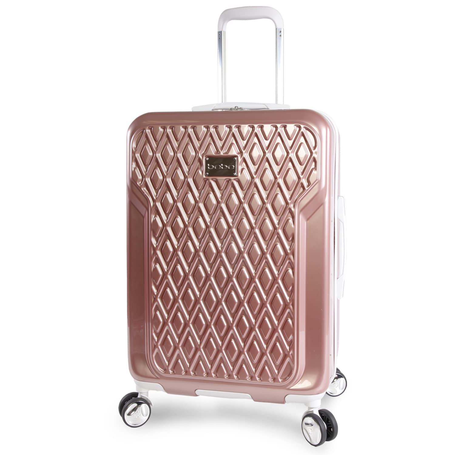 75ce43748740 bebe Stella Rose Gold 21-inch Carry On Hardside 8-Wheel Spinner Suitcase