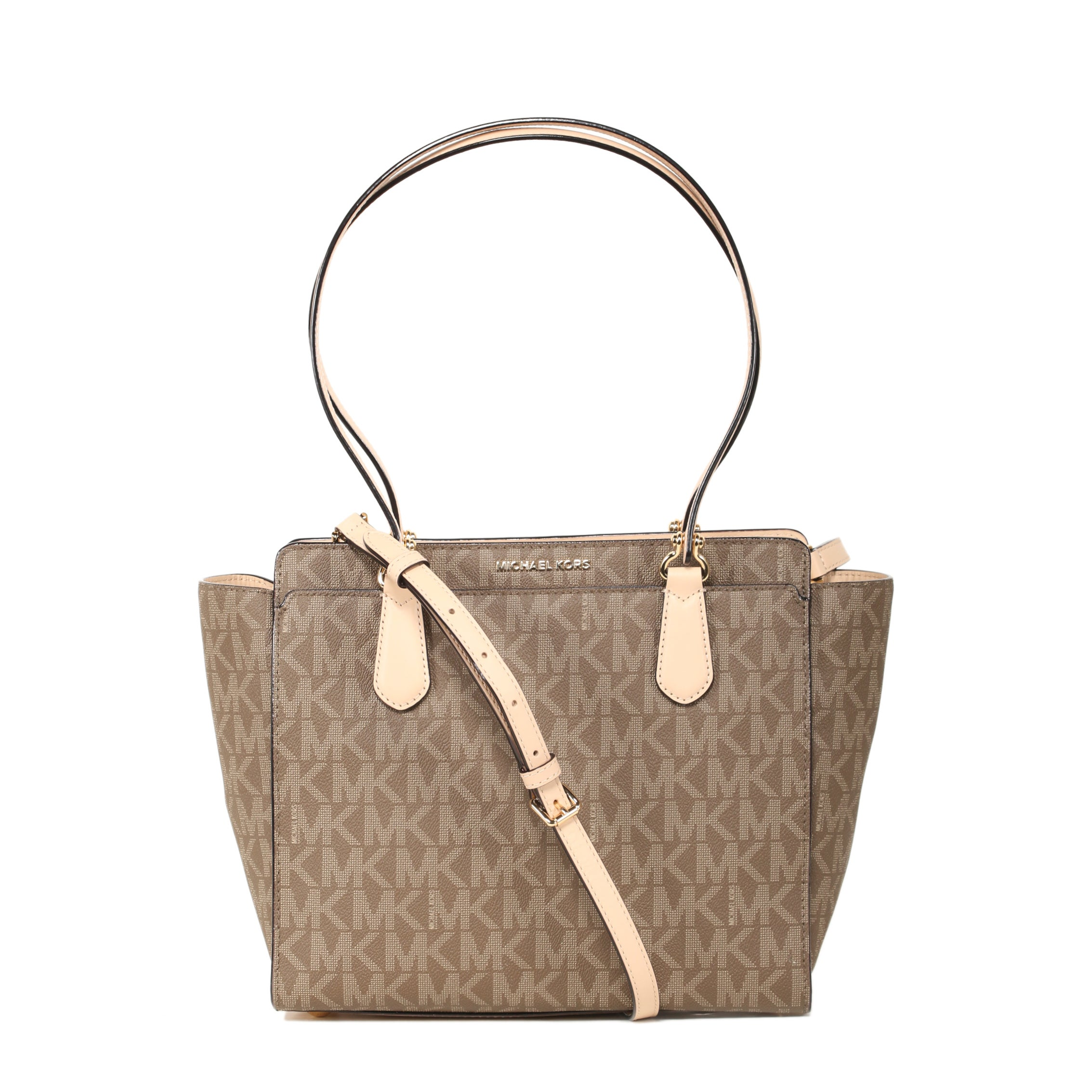 c6768e163772d6 Shop Michael Kors Dee Dee Medium Mocha Convertible Tote Bag - Free Shipping  Today - Overstock - 16849464