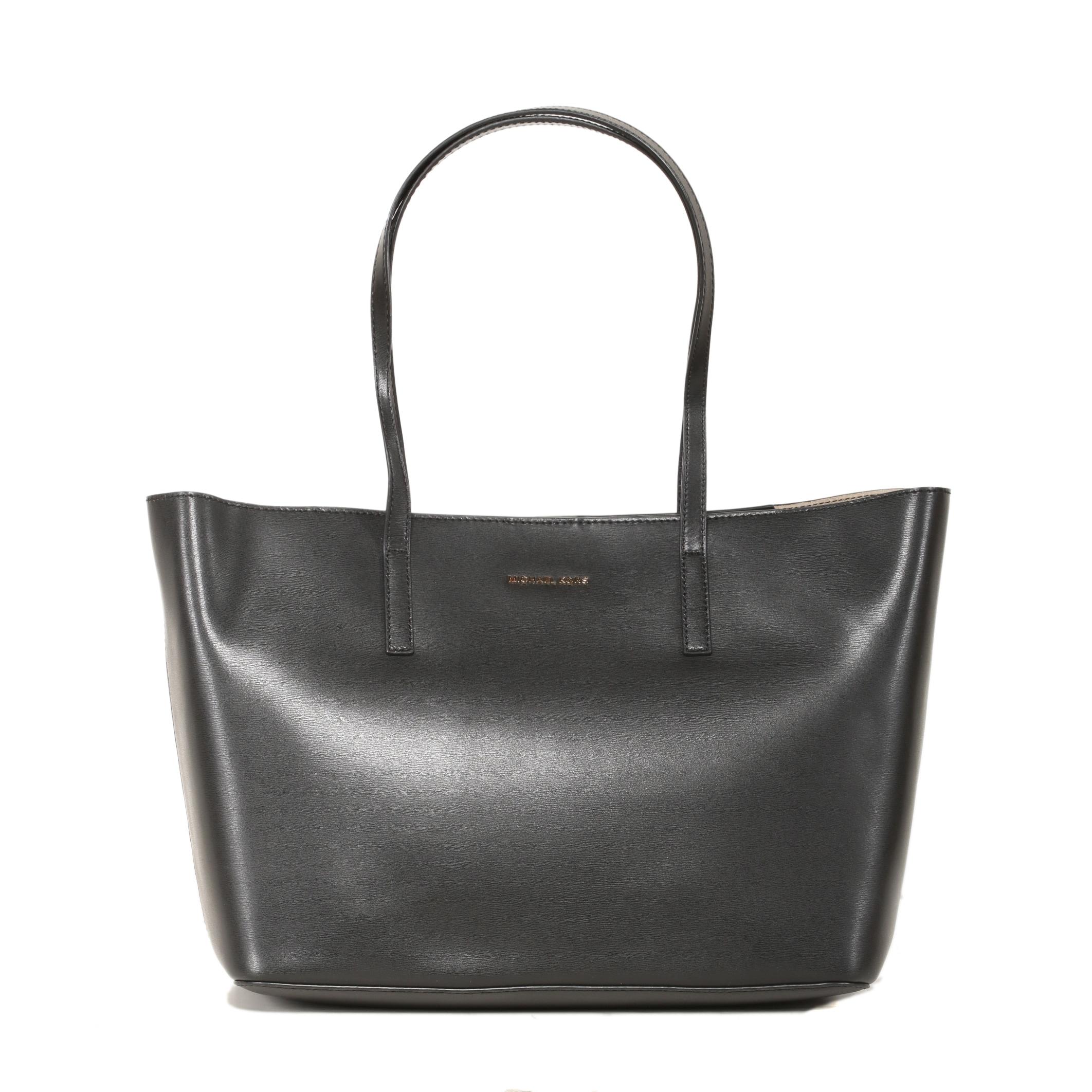 9015bbff255b99 Shop Michael Kors Emry Large Black Tote Bag - Free Shipping Today ...