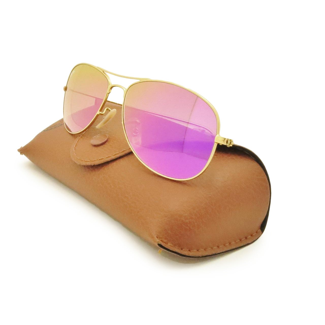 afb23c706d ... cheap shop ray ban 3362 cockpit matte gold mirror cyclamen flash lenses  sunglasses free shipping today