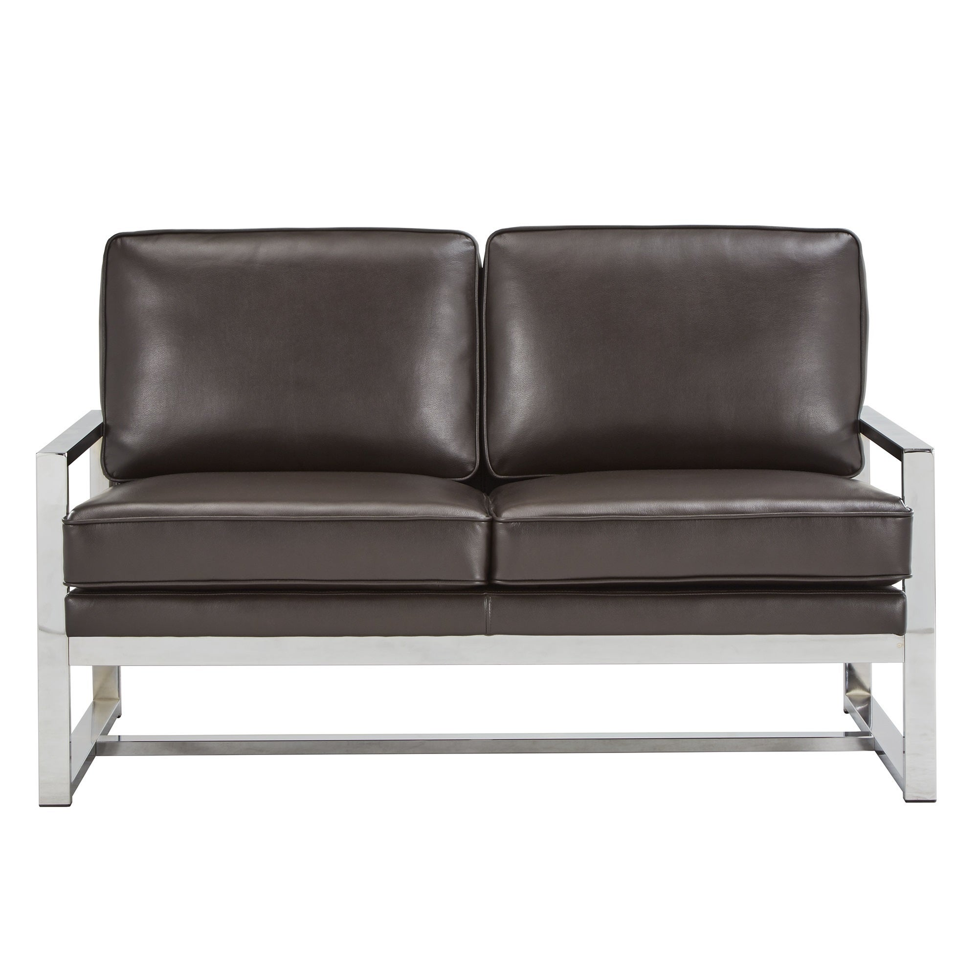 Shop Rafael Chrome Sofa and Loveseat by iNSPIRE Q Modern - Free ...