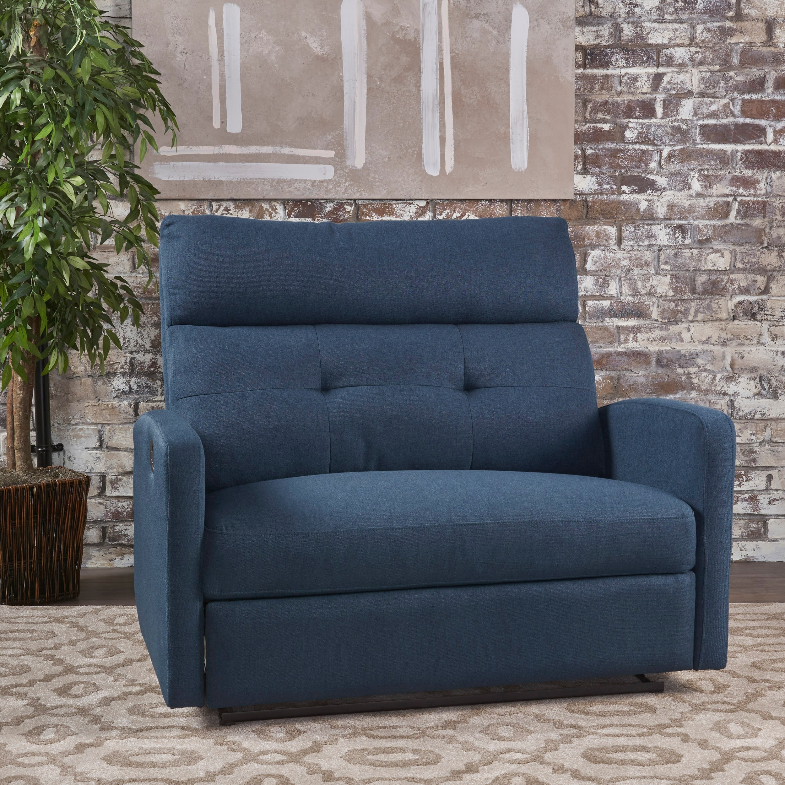 Superbe Shop Halima Fabric 2 Seater Recliner Club Chair By Christopher Knight Home    Free Shipping Today   Overstock.com   16852064