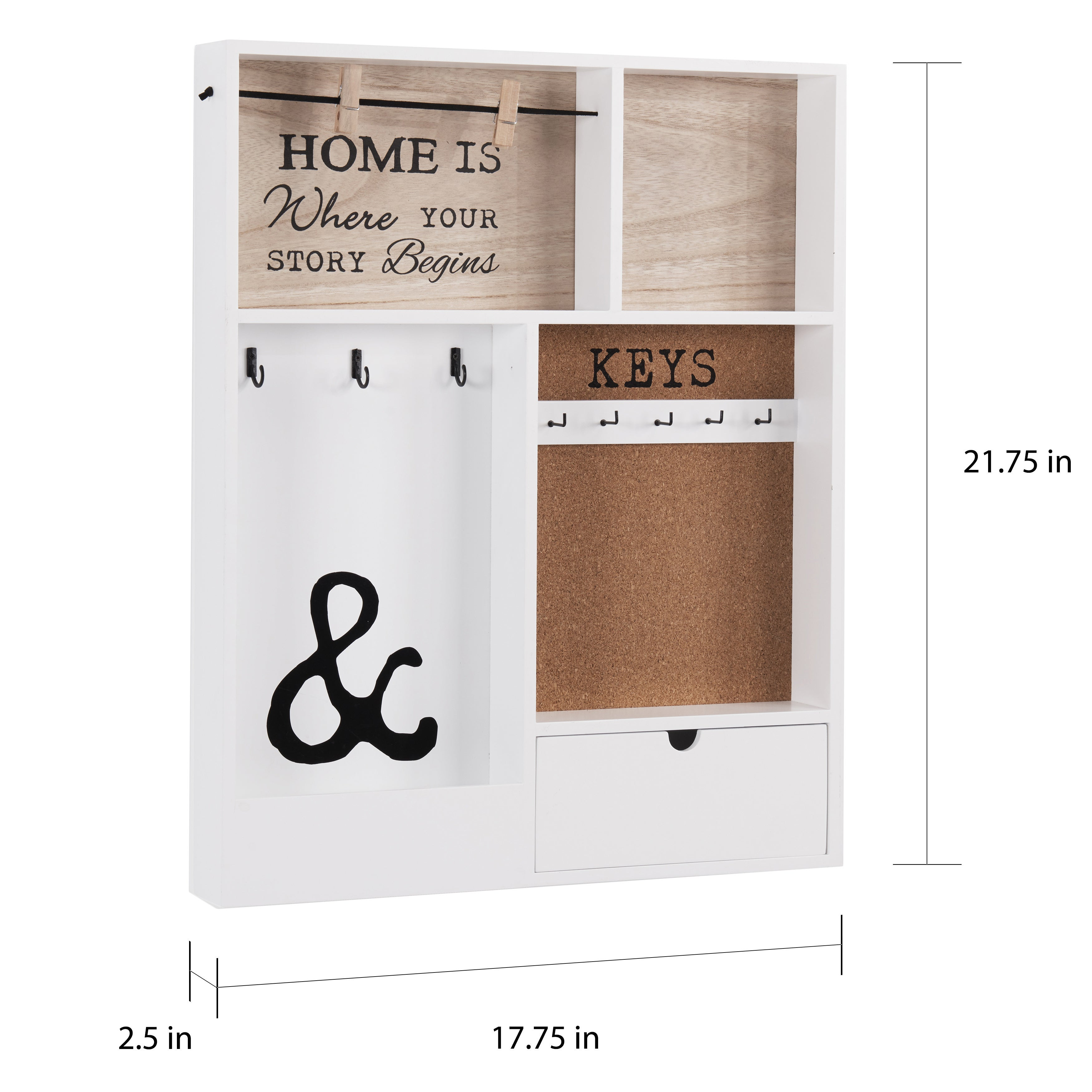 Shop Danya B Entryway Keymail Holder Wall Organizer Free