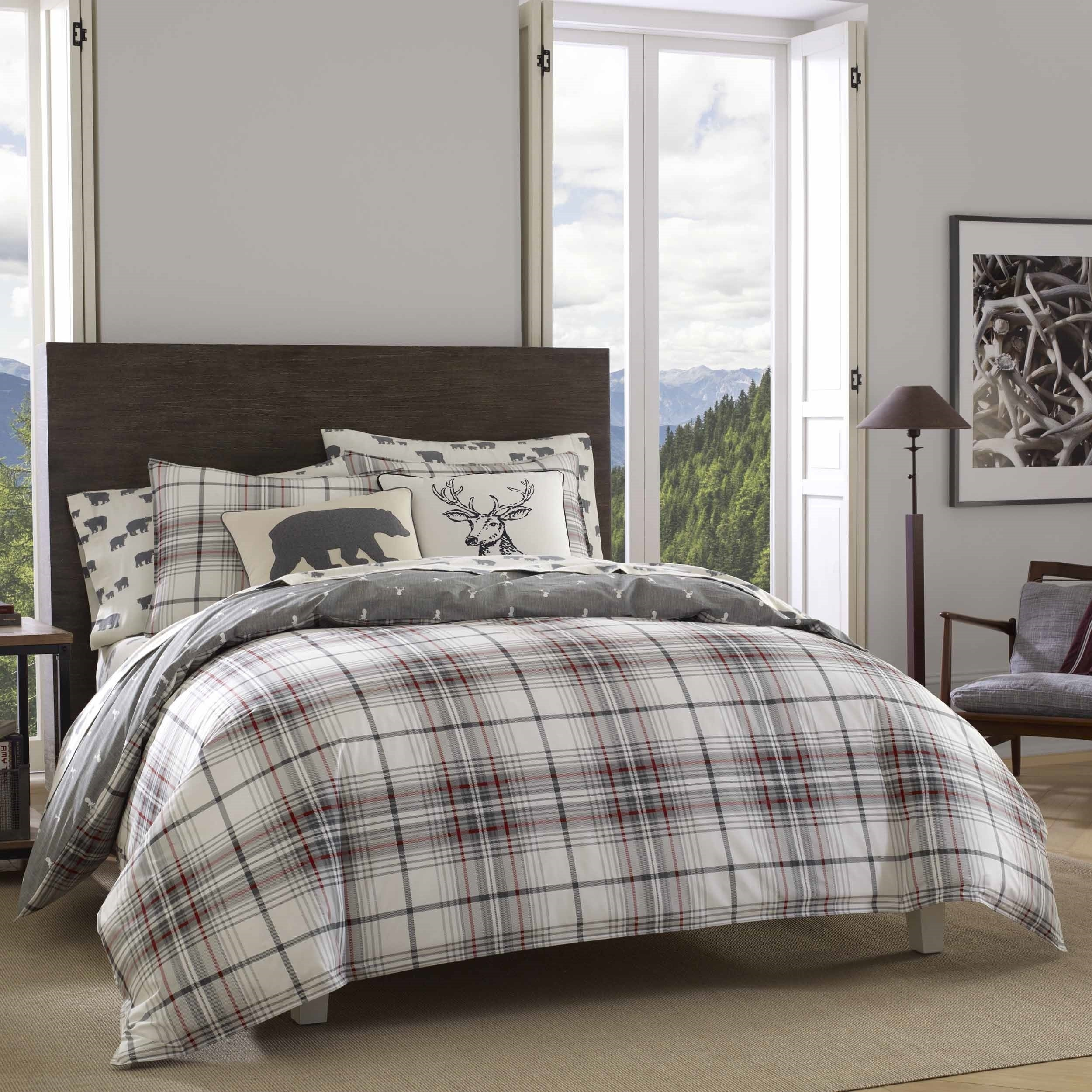 country bear set carstens inc sagamore lake copy plaid bedding product comforter